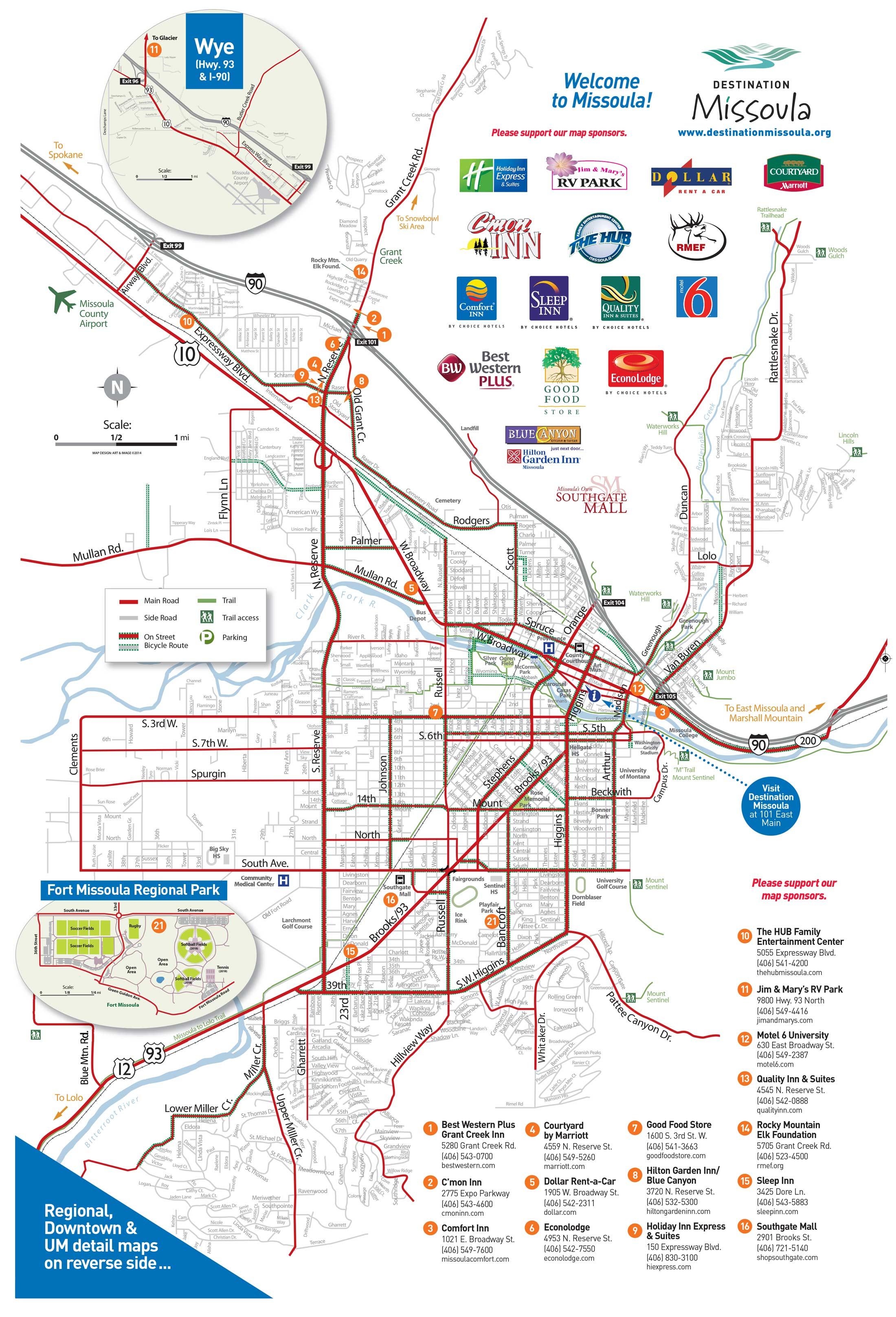 Maps   Destination Missoula - Printable Missoula Map