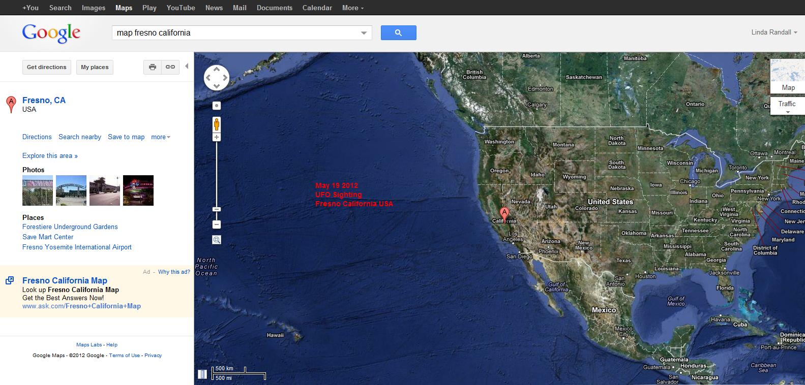 Maps Kalifornien Google Google Maps Ansicht Der Westlichen Küsten - Fresno California Google Maps