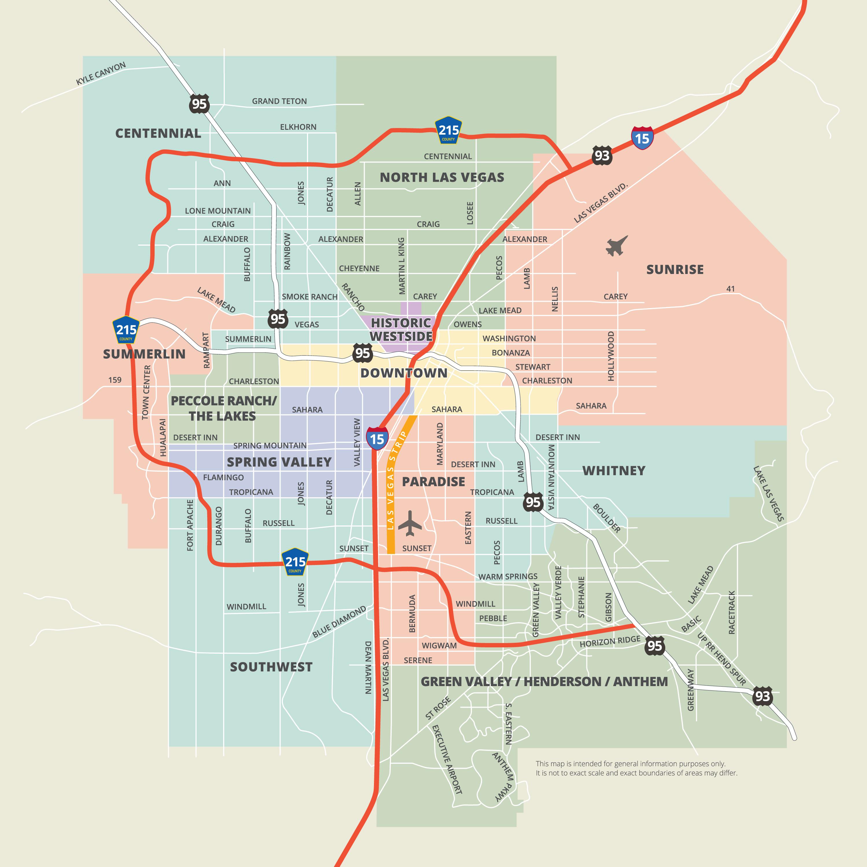 Maps   Las Vegas - Printable Map Of Downtown Las Vegas