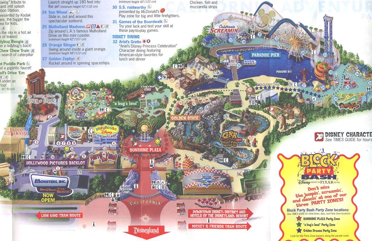 Maps Map Of California Springs Disney California Adventure Map Pdf - California Adventure Map Pdf