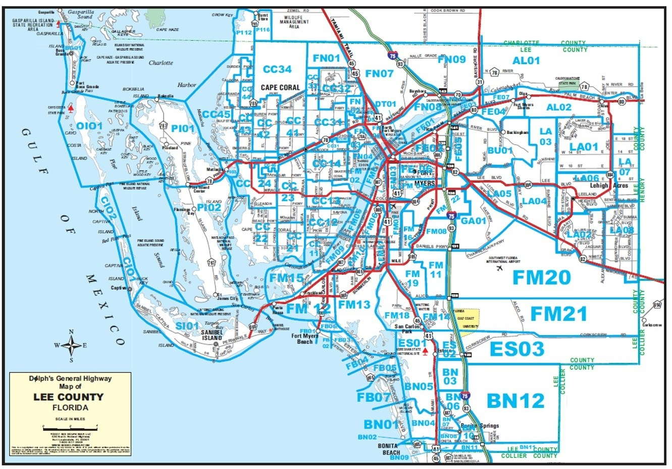 Maps - Map Of Fort Myers Florida Area