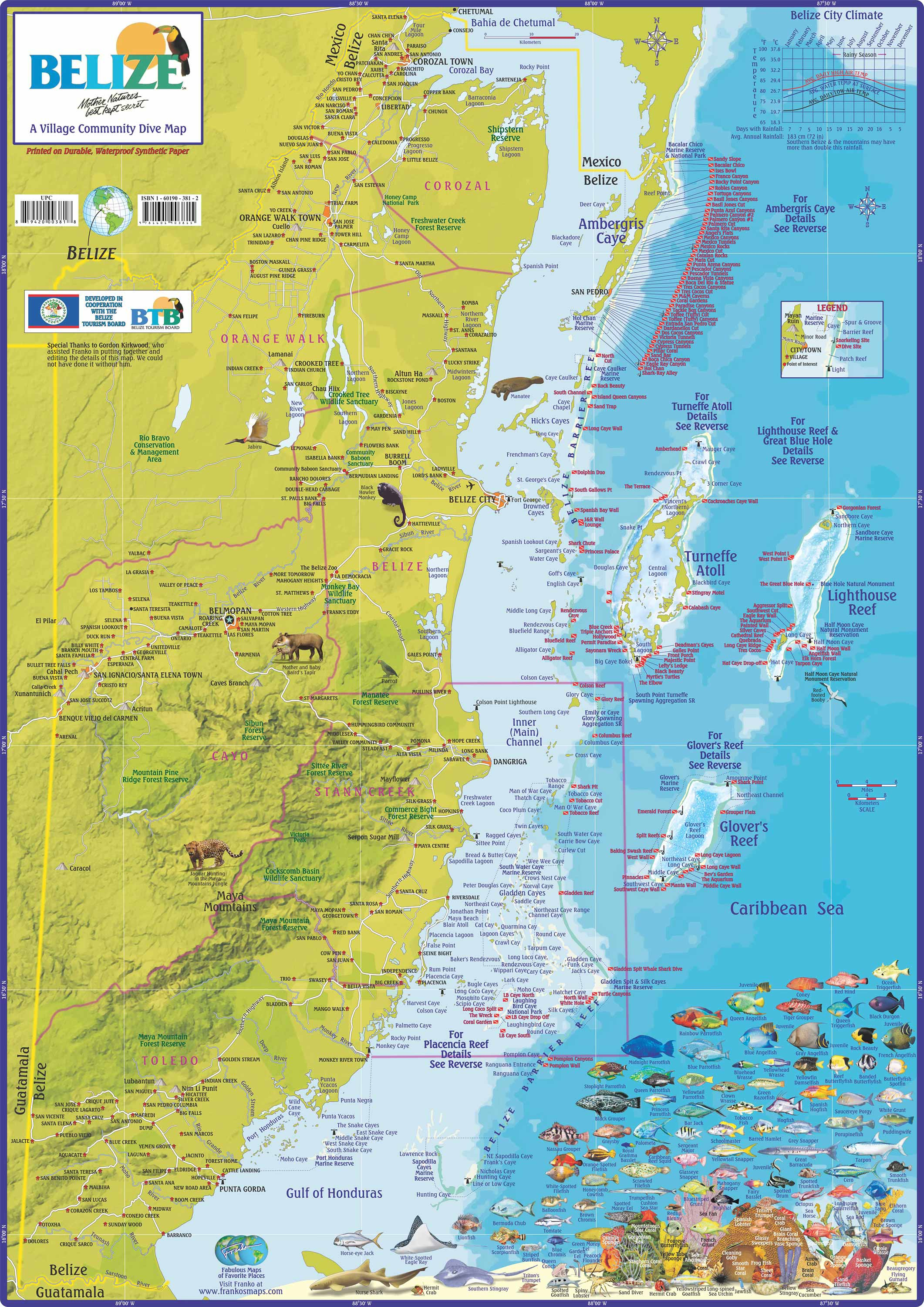 Maps Of Belize, District Maps Of Belize, City And Town Maps Of - Printable Map Of Belize