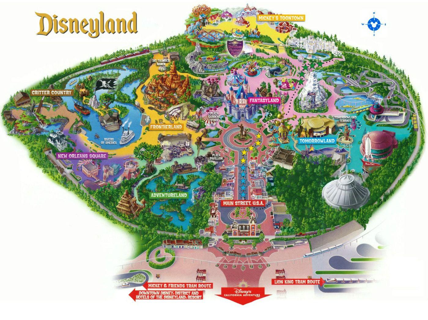 Maps Of Disneyland Resort In Anaheim, California - Disney California Map