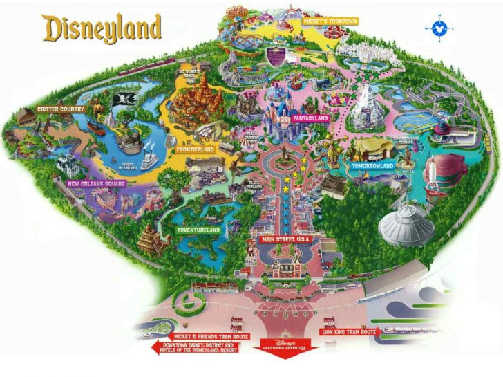Disneyland Map 2018 California