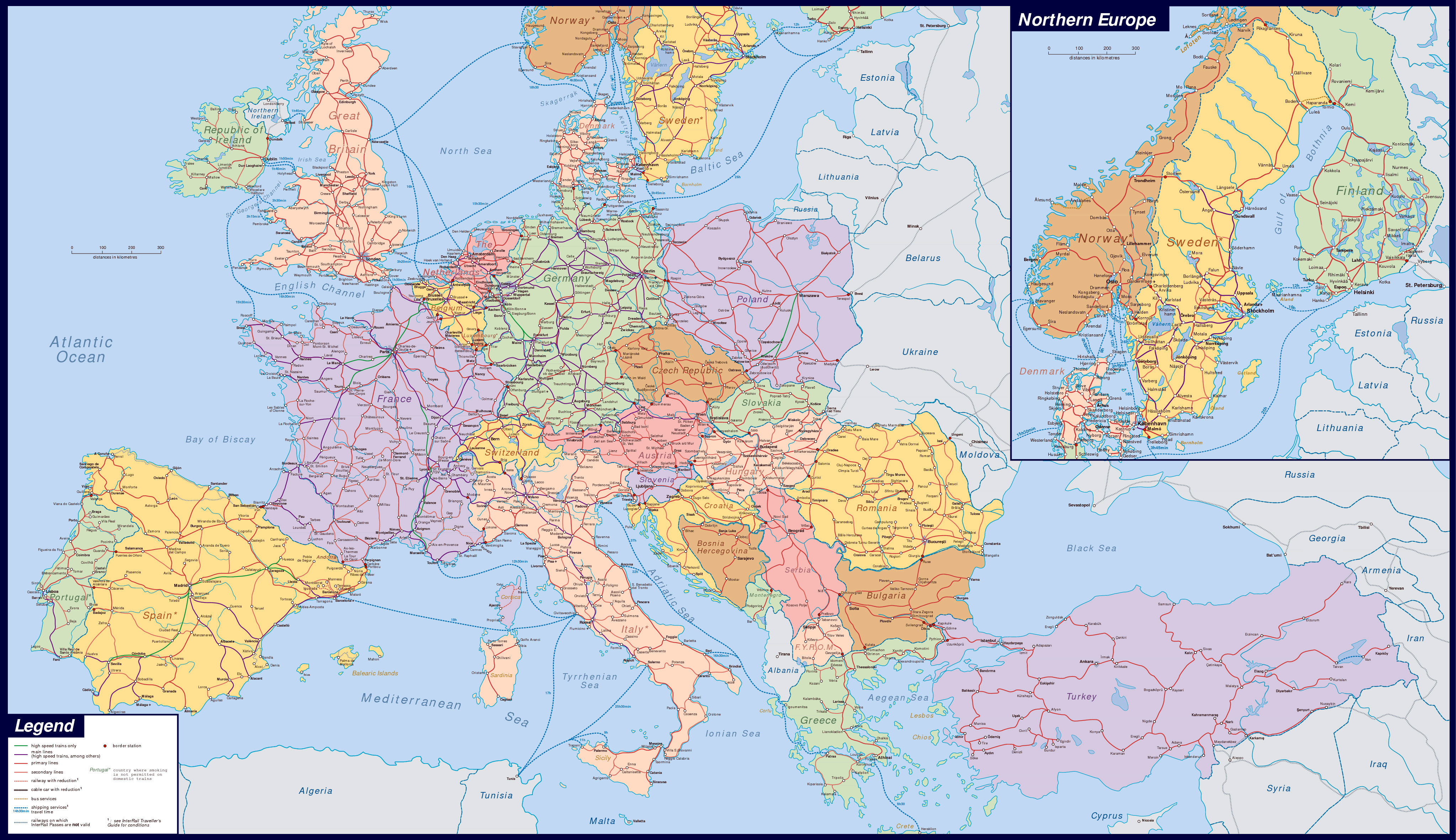 Maps Of Europe And European Countries | Political Maps - Large Map Of Europe Printable