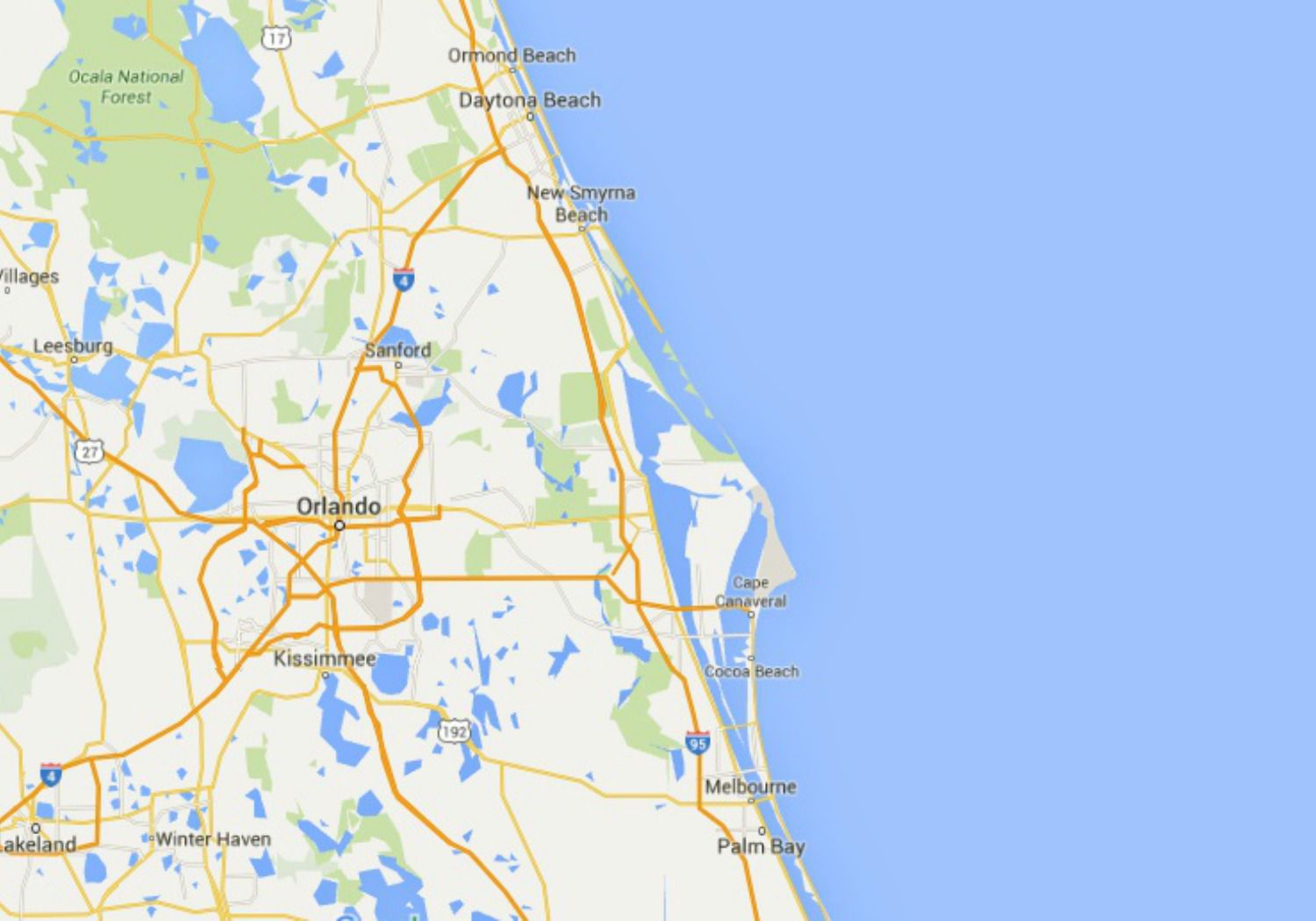 Maps Of Florida: Orlando, Tampa, Miami, Keys, And More - Coco Beach Florida Map