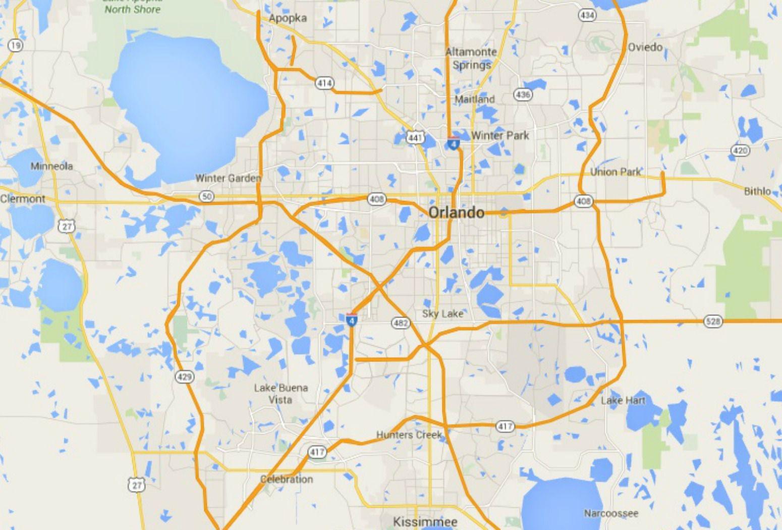 Maps Of Florida: Orlando, Tampa, Miami, Keys, And More - Google Maps Clermont Florida