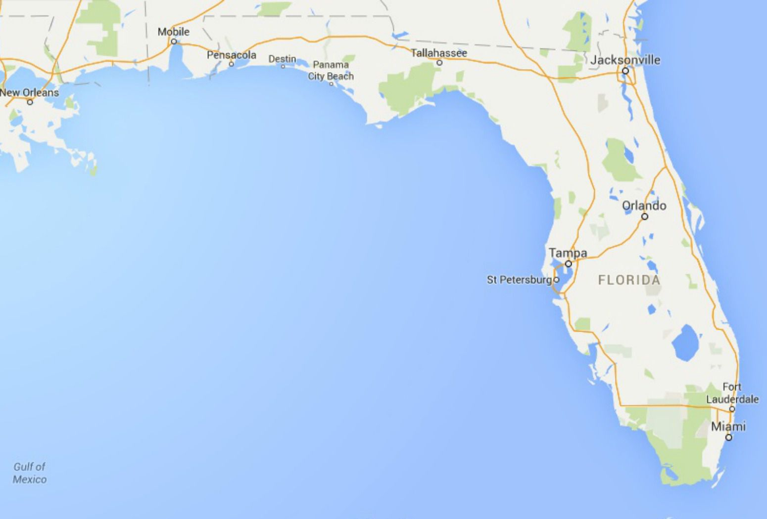 Maps Of Florida: Orlando, Tampa, Miami, Keys, And More - Google Maps Panama City Beach Florida