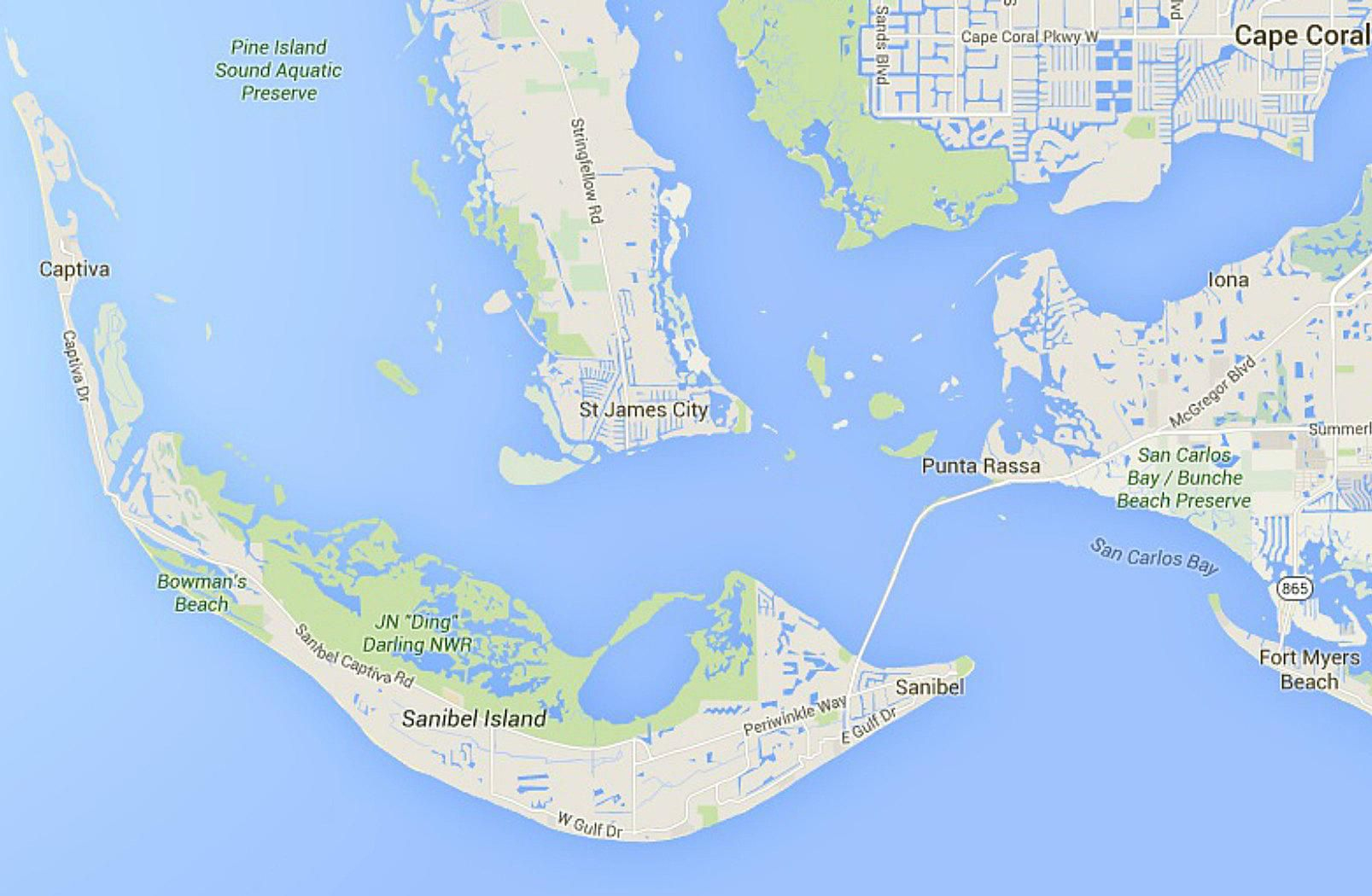 Maps Of Florida: Orlando, Tampa, Miami, Keys, And More - Sanibel Florida Map