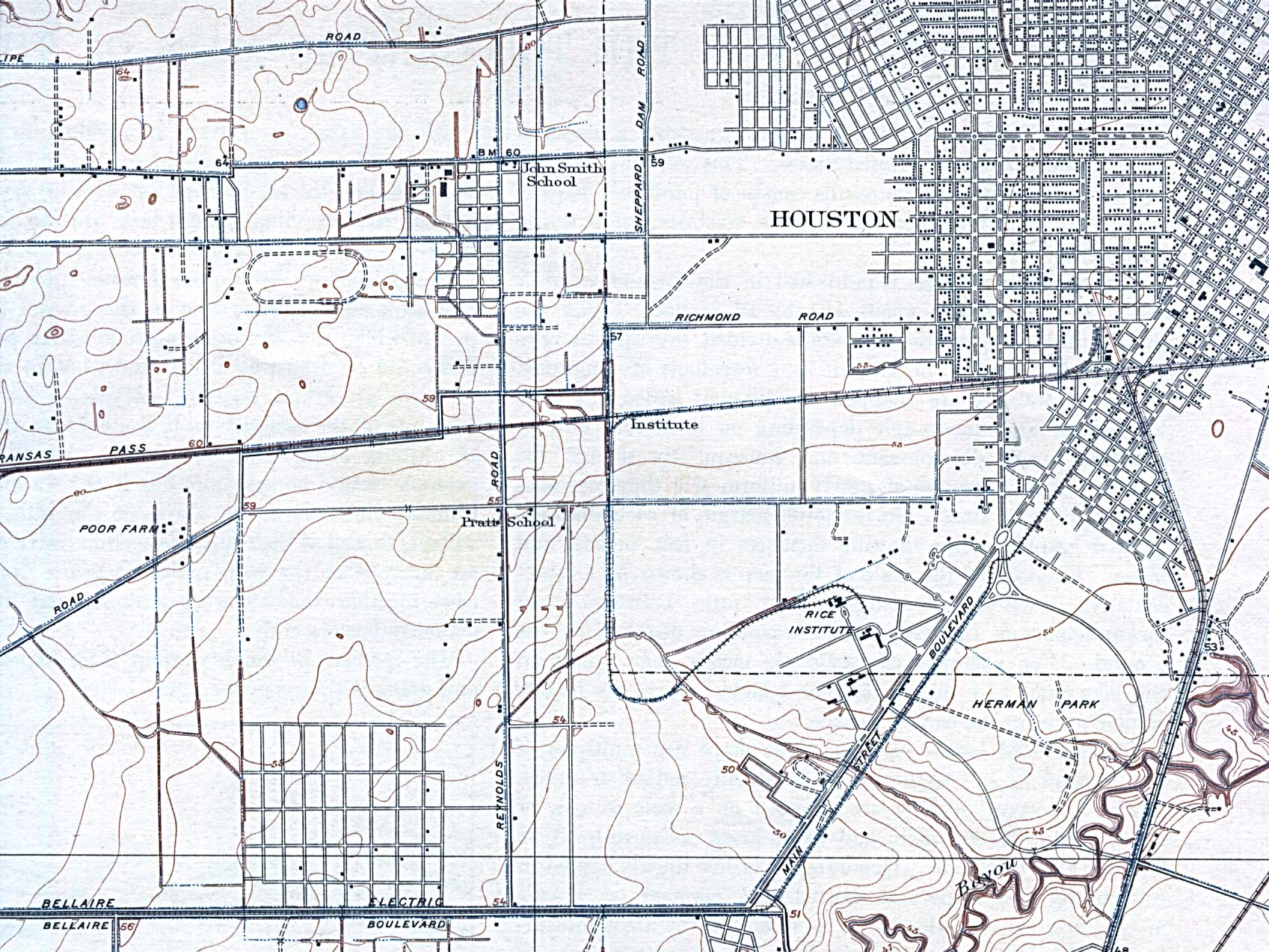 Maps Of Harris County, Texas - Map Records Of Harris County Texas