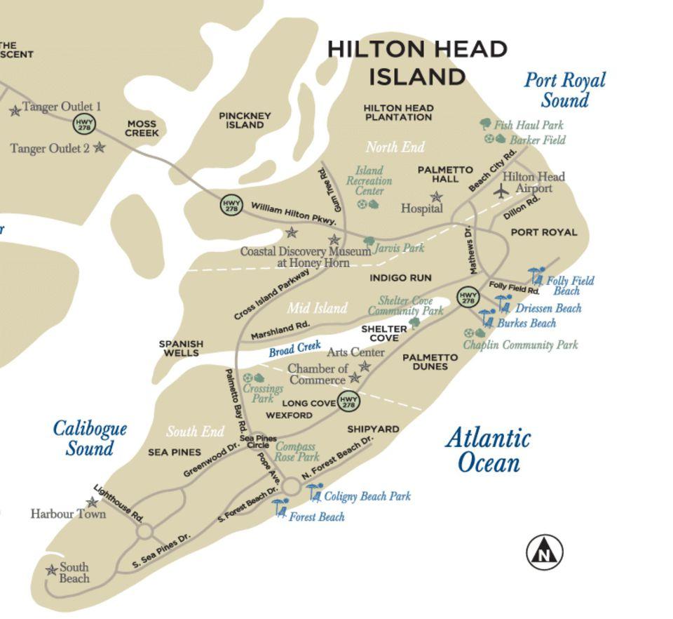 Maps Of Hilton Head Island, South Carolina - Hilton Head Florida Map