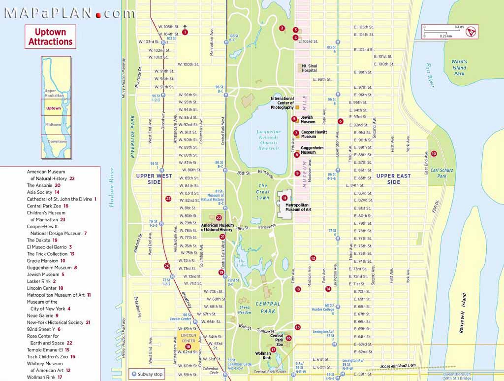 Maps Of New York Top Tourist Attractions - Free, Printable - Printable Map Of Manhattan