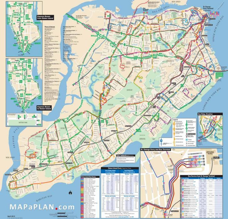 Printable Map Of New York