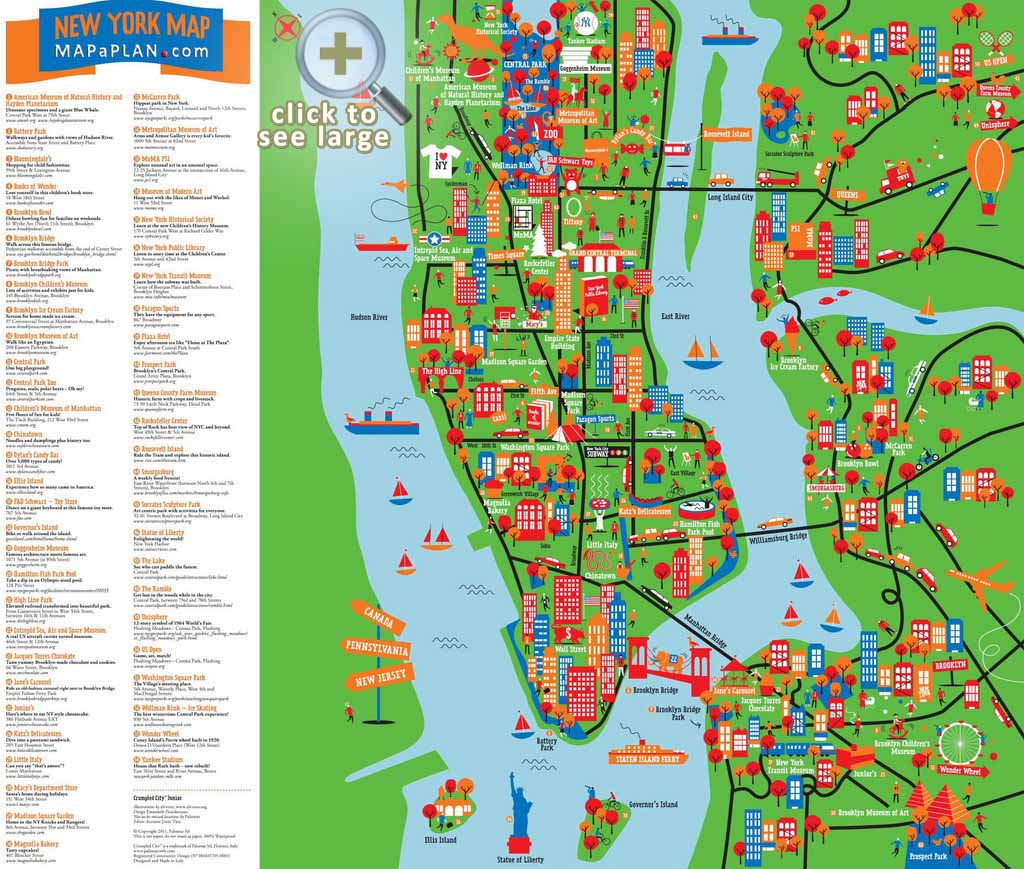 Maps Of New York Top Tourist Attractions - Free, Printable - Printable Map Of New York City With Attractions