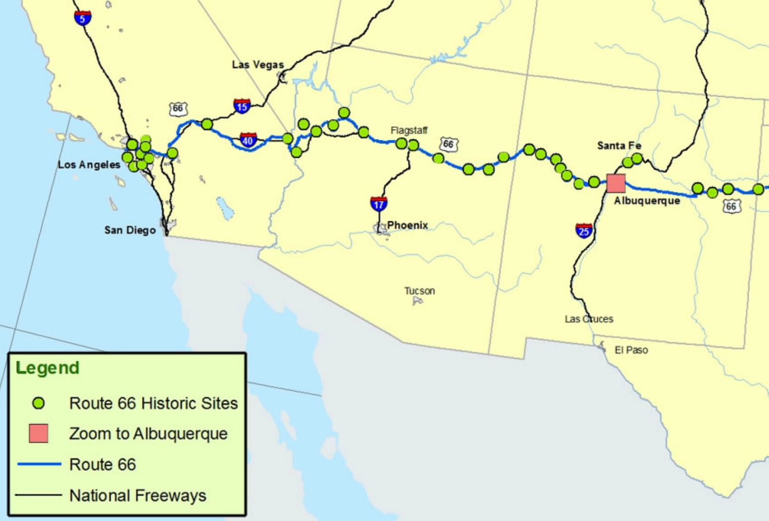 Maps Of Route 66: Plan Your Road Trip - Free Printable Route 66 Map
