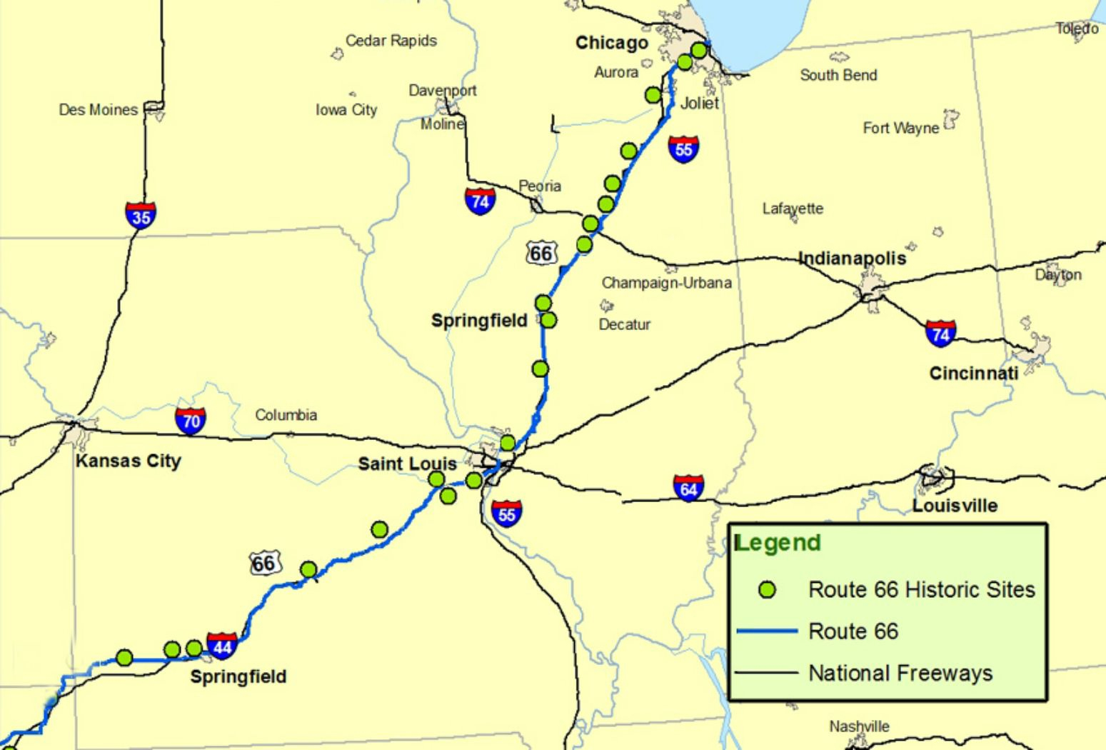 Maps Of Route 66: Plan Your Road Trip - Route 66 Texas Map