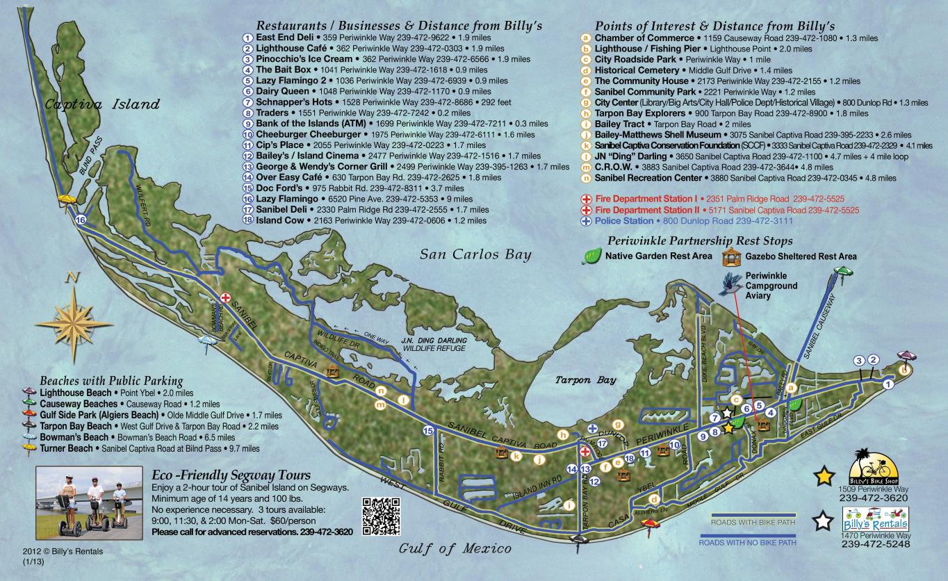 Maps Of Sanibel Island | Sanibel Map | Favorite Places & Spaces - Sanibel Florida Map
