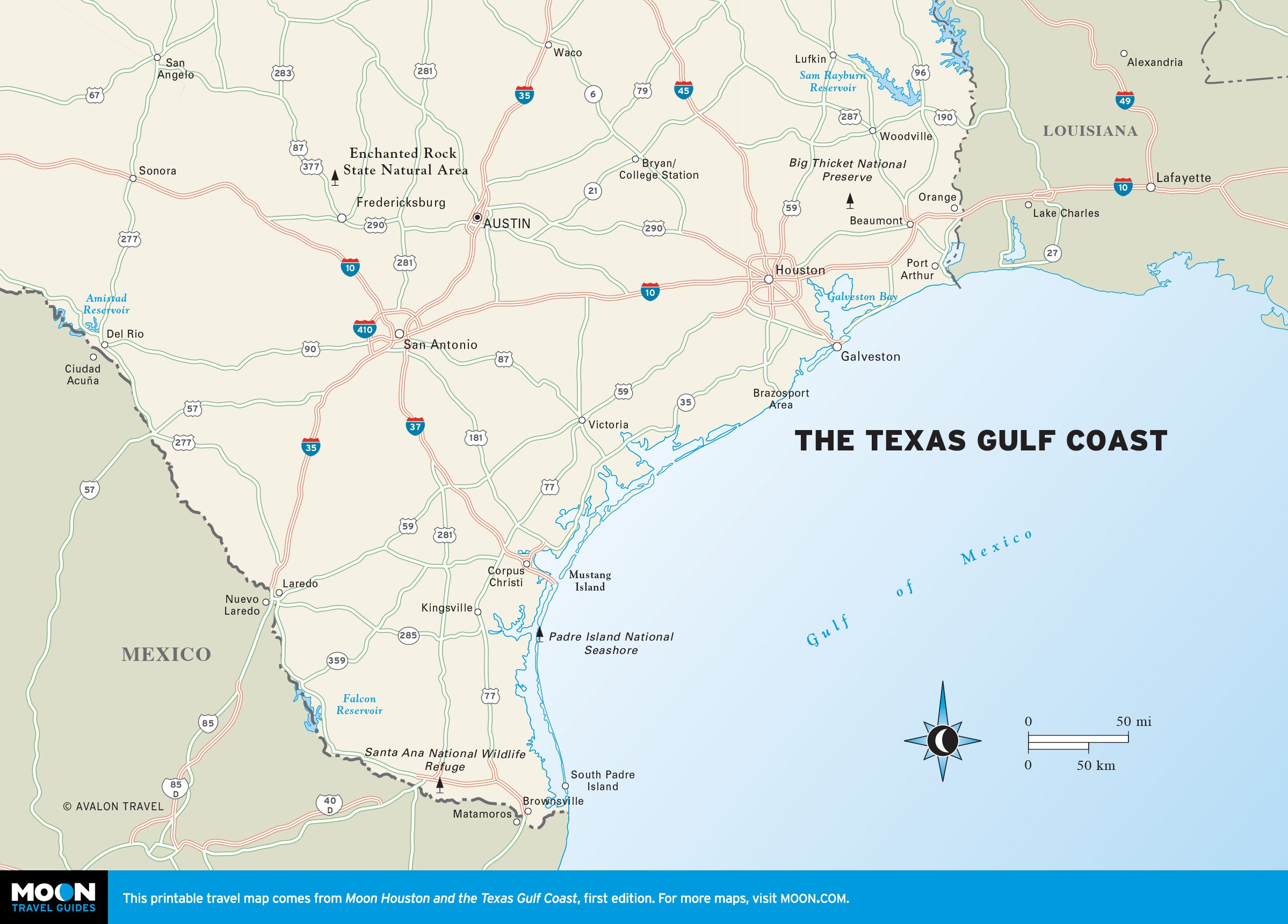 Maps Of Texas Gulf Coast And Travel Information | Download Free Maps - Map Coastal Texas
