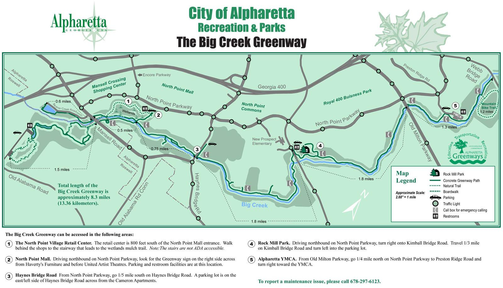 Maps Of The Big Creek Greenway - Florida Greenways And Trails Map