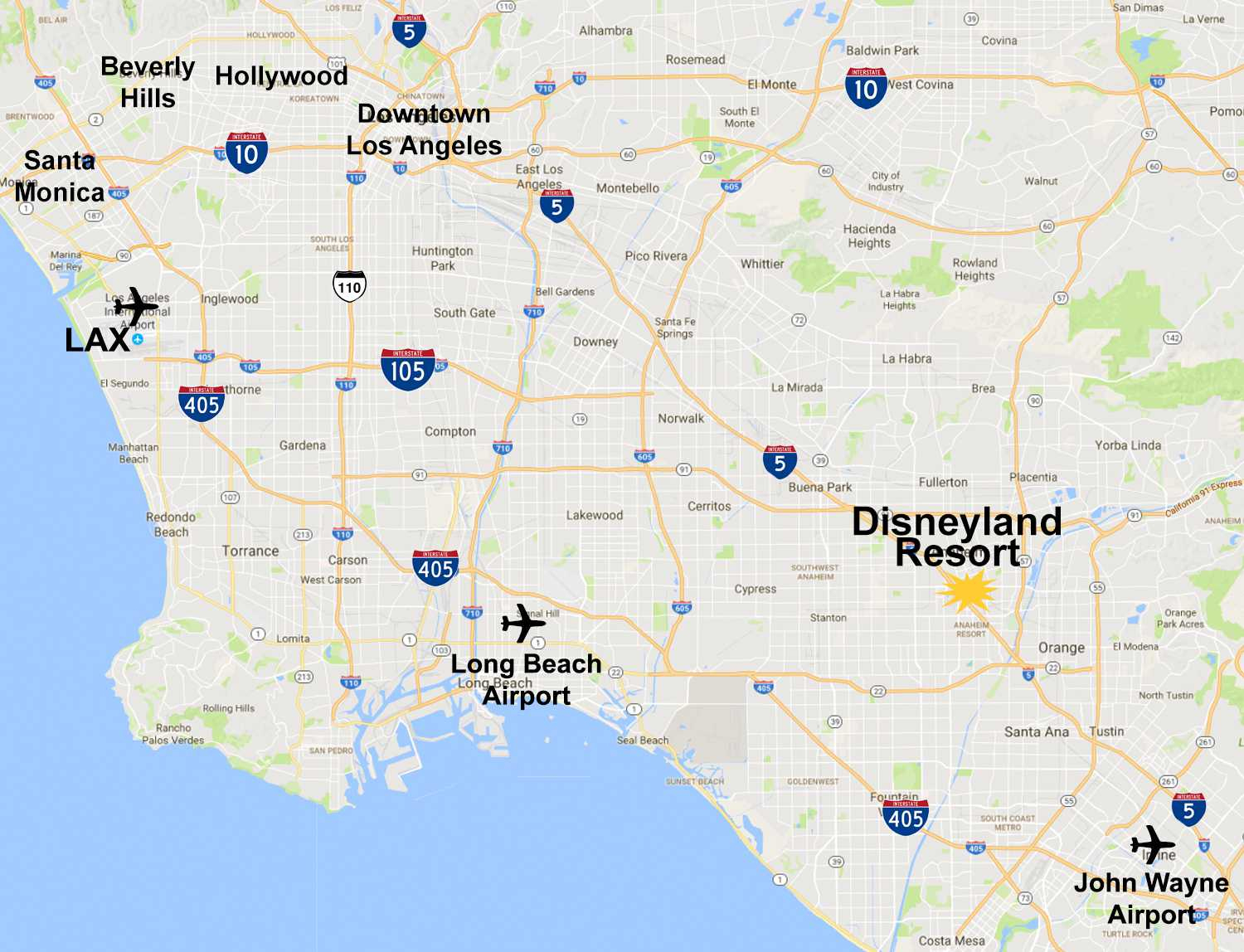 Maps Of The Disneyland Resort - Map Showing Anaheim California