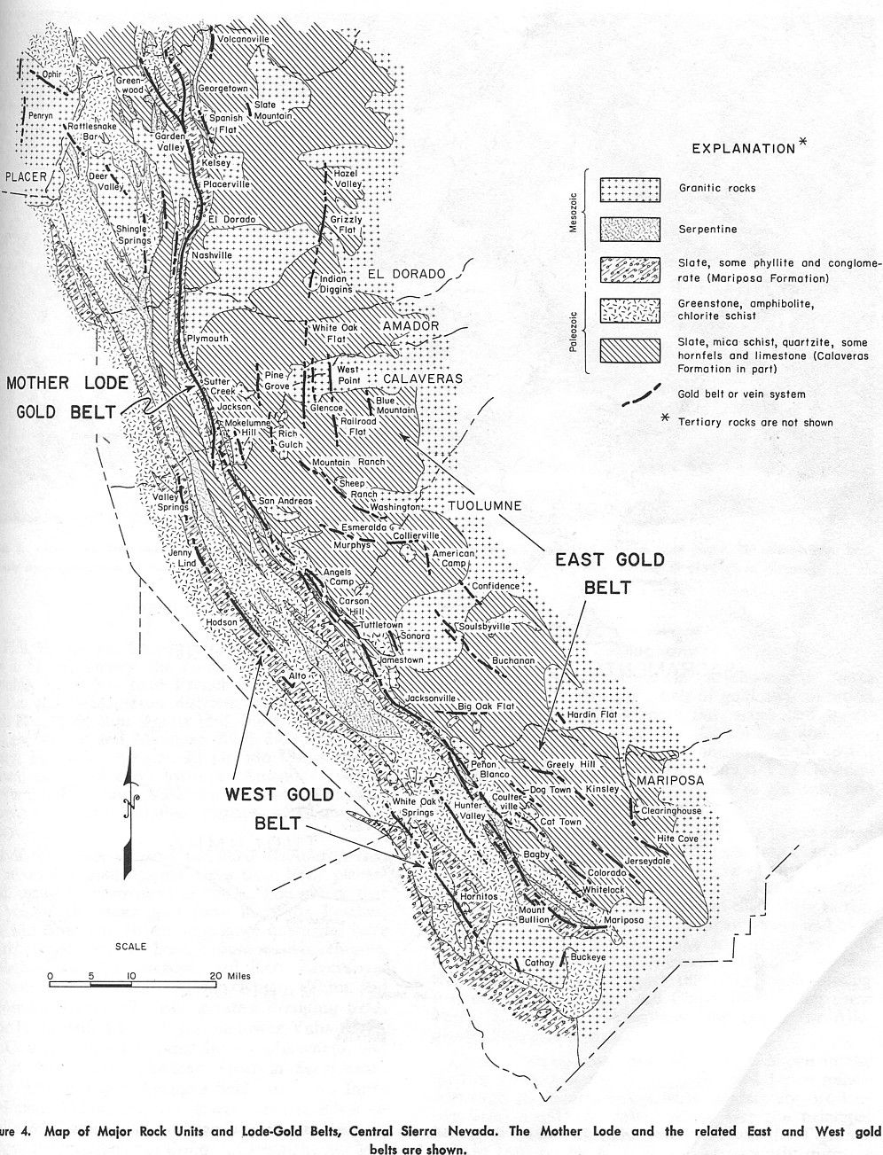 Maps Of The Mother Lode Area Within California: | Resources | Mother - California Mother Lode Map