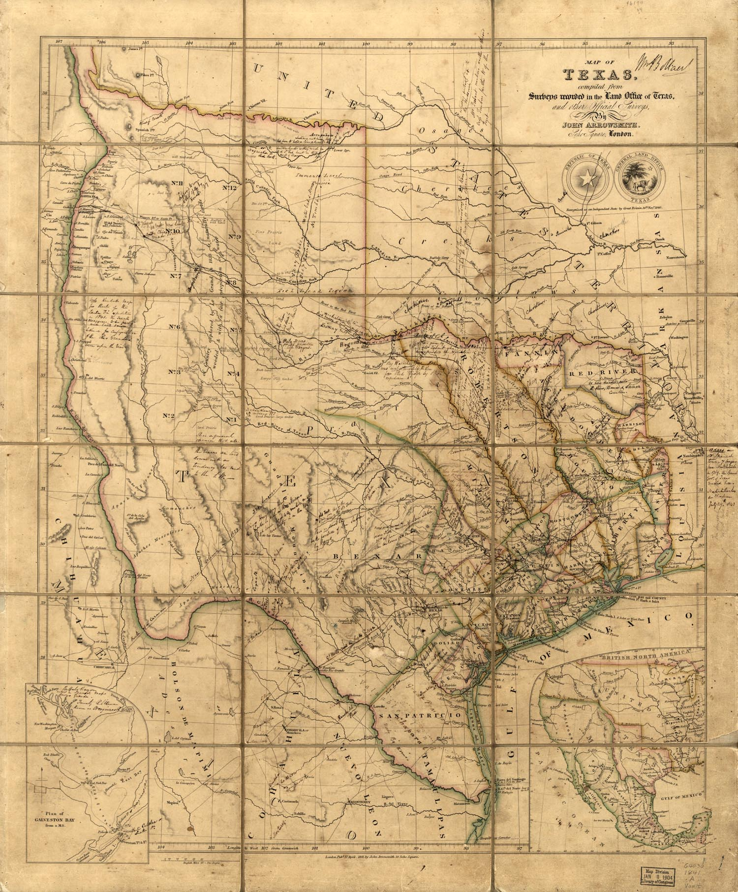 Maps Of The Republic Of Texas - Republic Of Texas Map Overlay