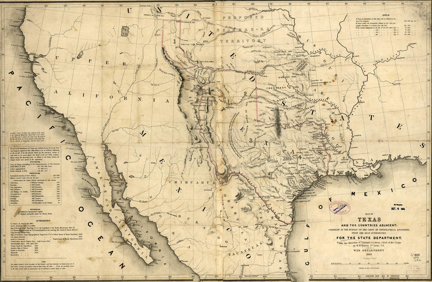 Maps Of The Republic Of Texas - Texas Map 1846