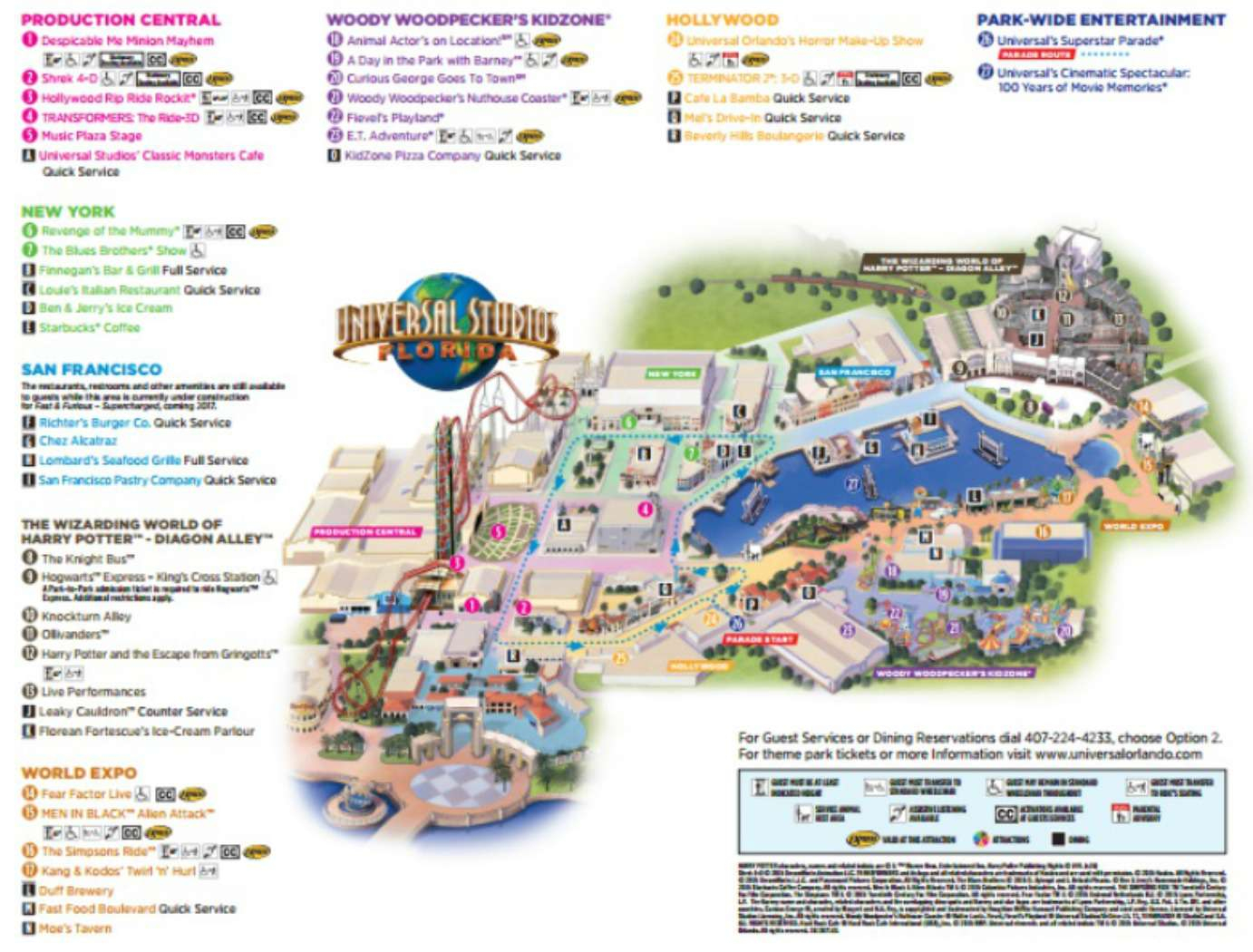 Maps Of Universal Orlando Resort's Parks And Hotels - Universal Studios Florida Map 2018