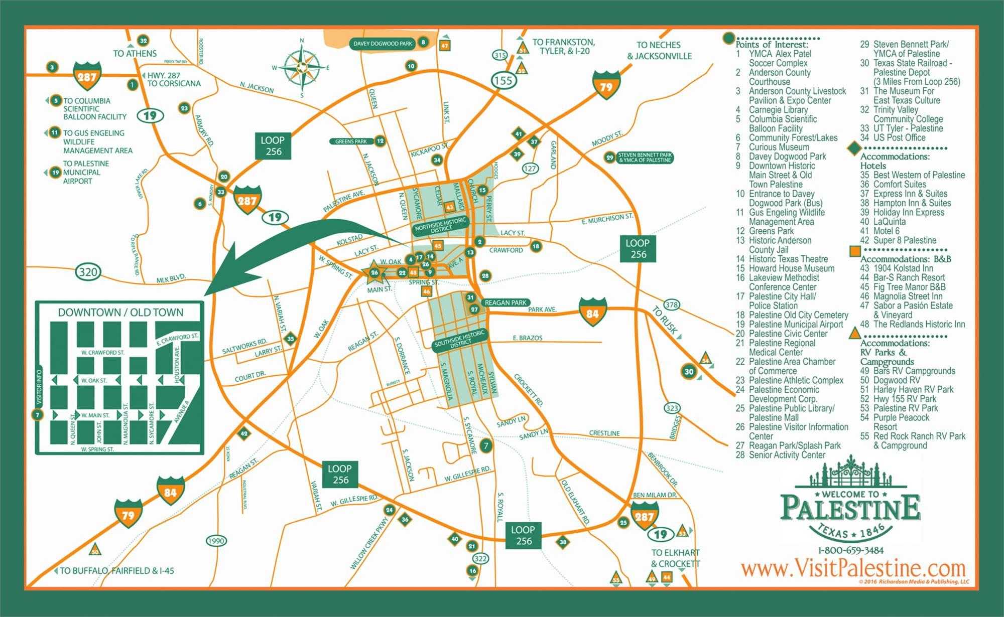 Maps - Palestine Texas Map