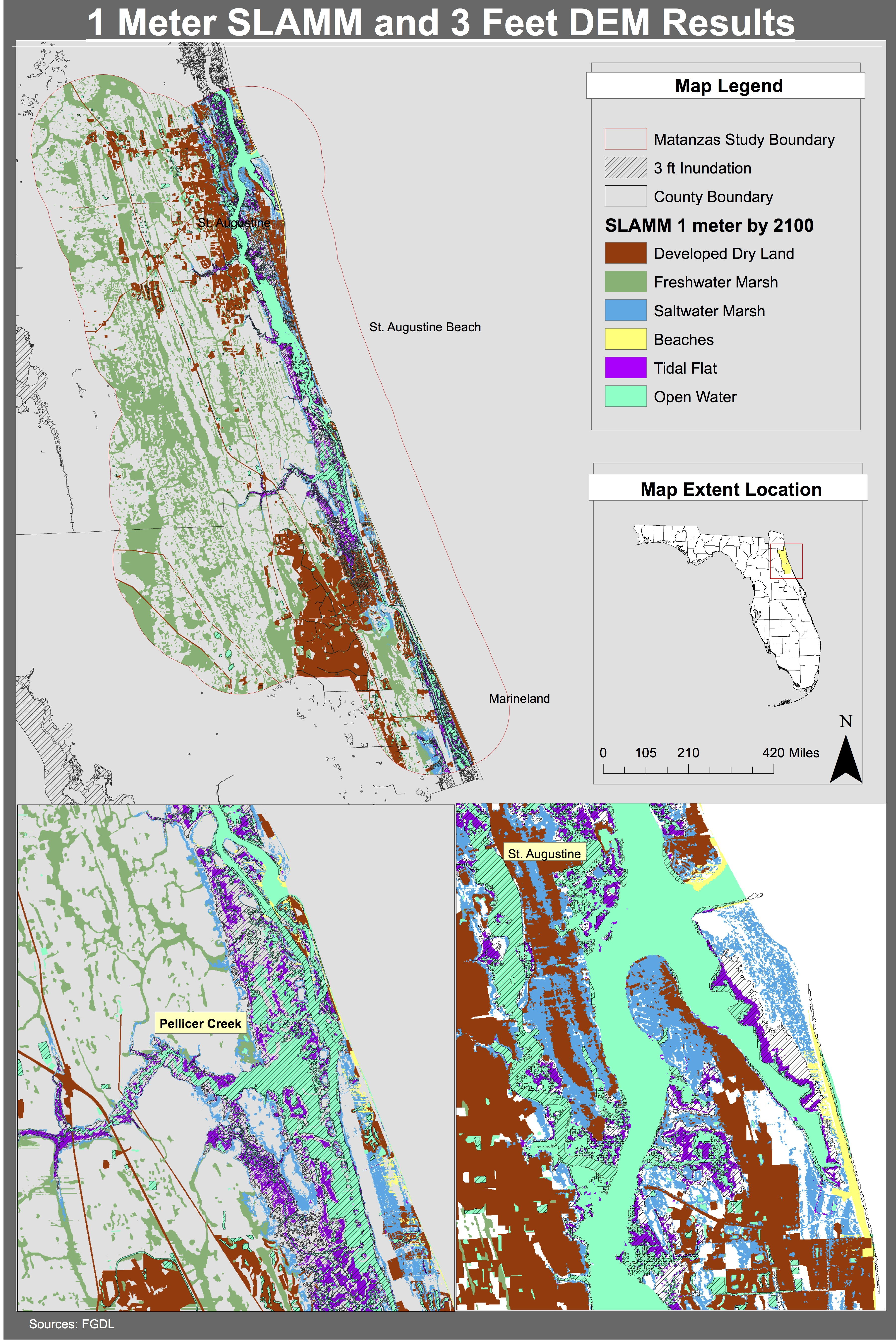 Maps | Planning For Sea Level Rise In The Matanzas Basin - Marineland Florida Map