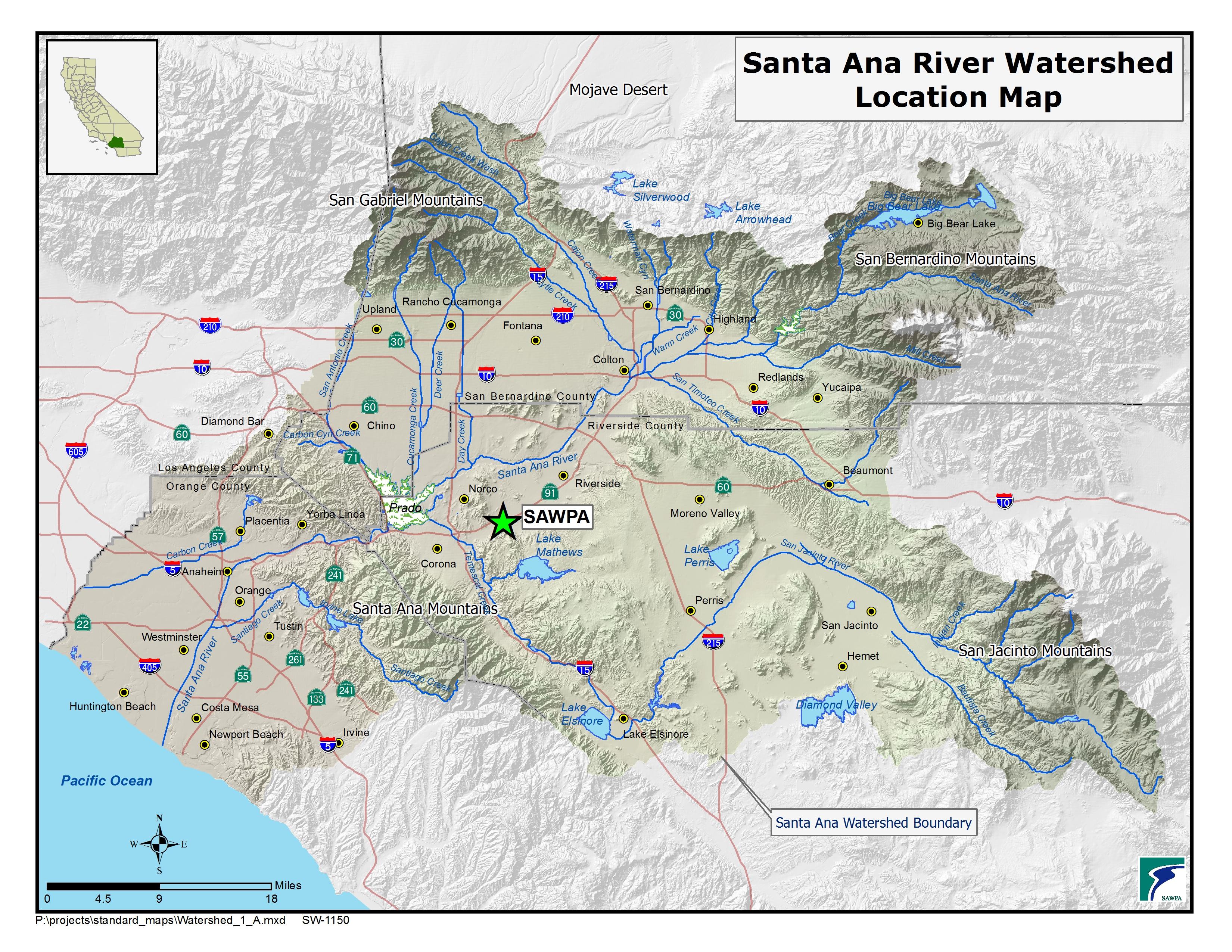 Maps – Santa Ana Watershed Project Authority   Sawpa - Santa Ana California Map