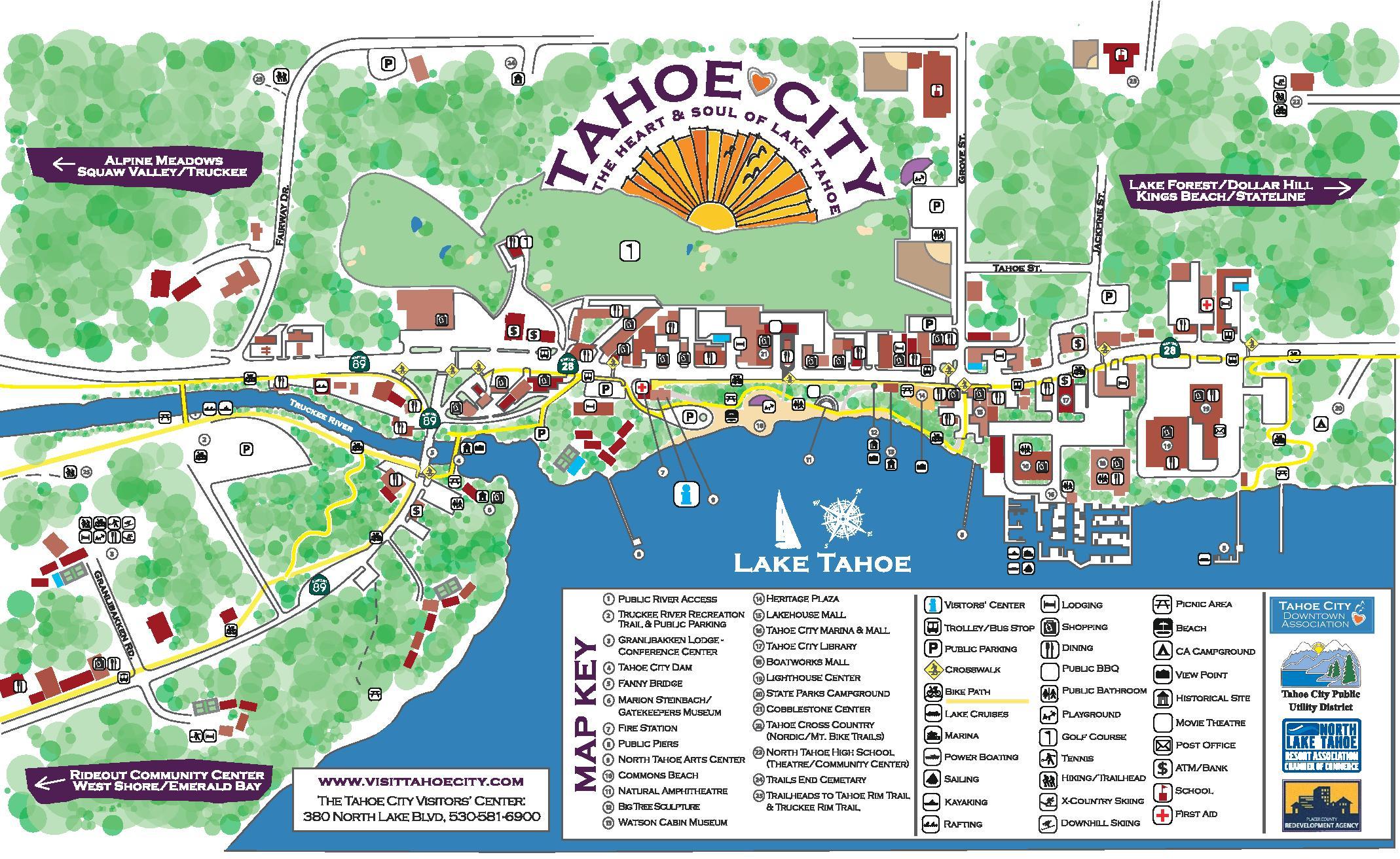 Maps - Tahoe City Downtown Association - Tahoe City California Map
