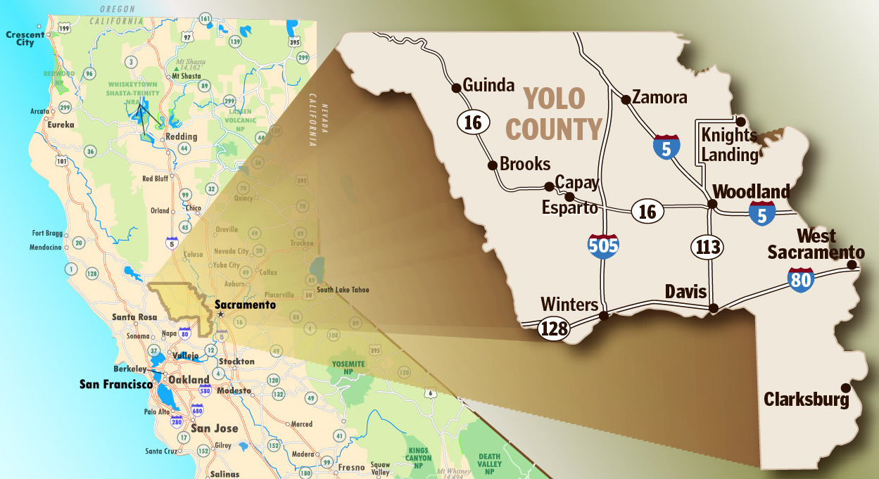 Maps & Transportation Overview - Visit Yolo County California, Davis - Davis California Map