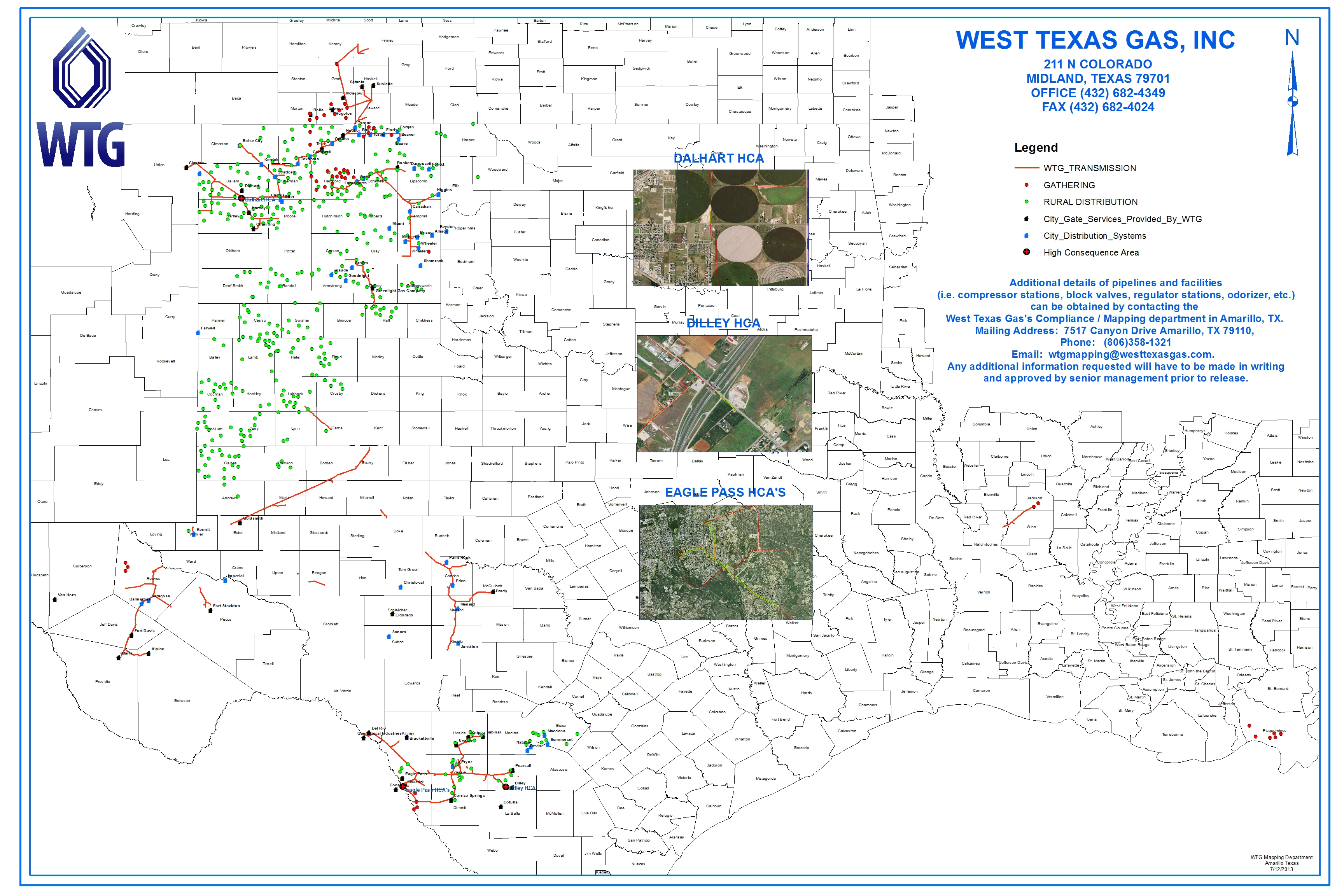 Maps | West Texas Gas - Texas Gas Pipeline Map