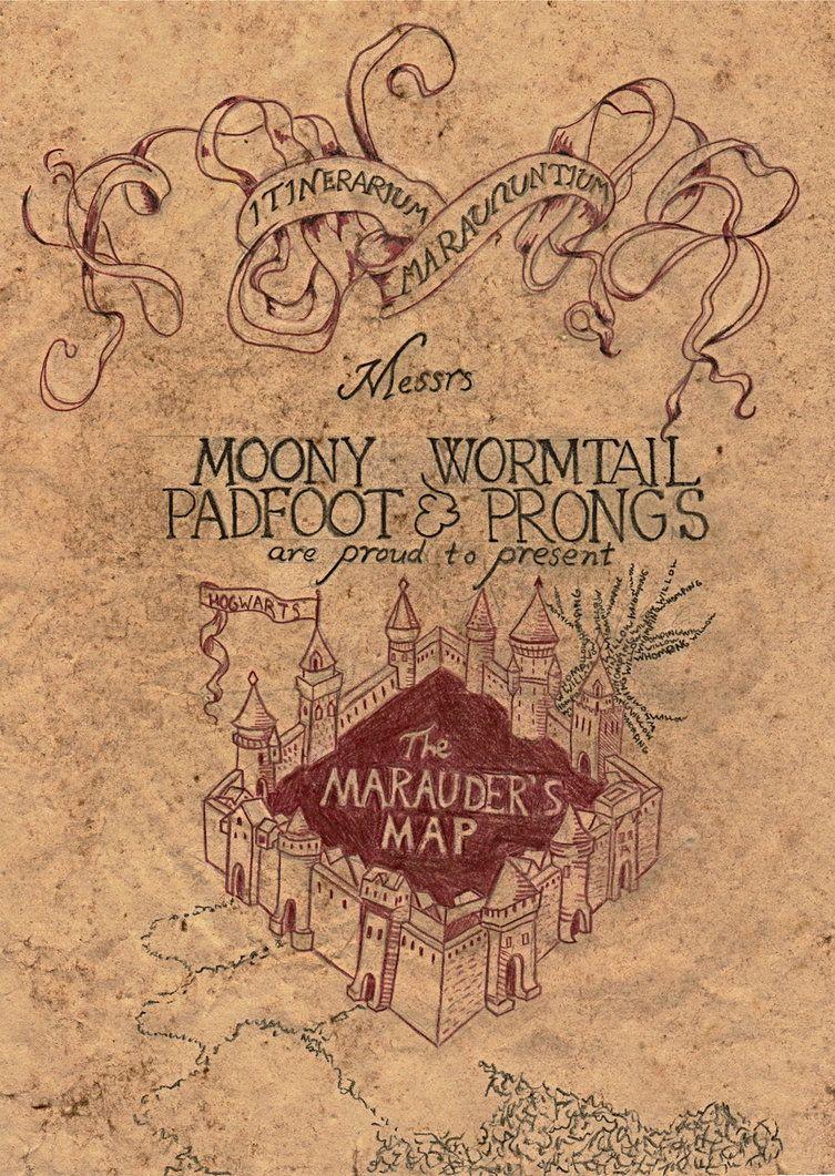 Marauder's Map | Harry Potter | Marauders Map, Map Wallpaper, The - Marauders Map Printable