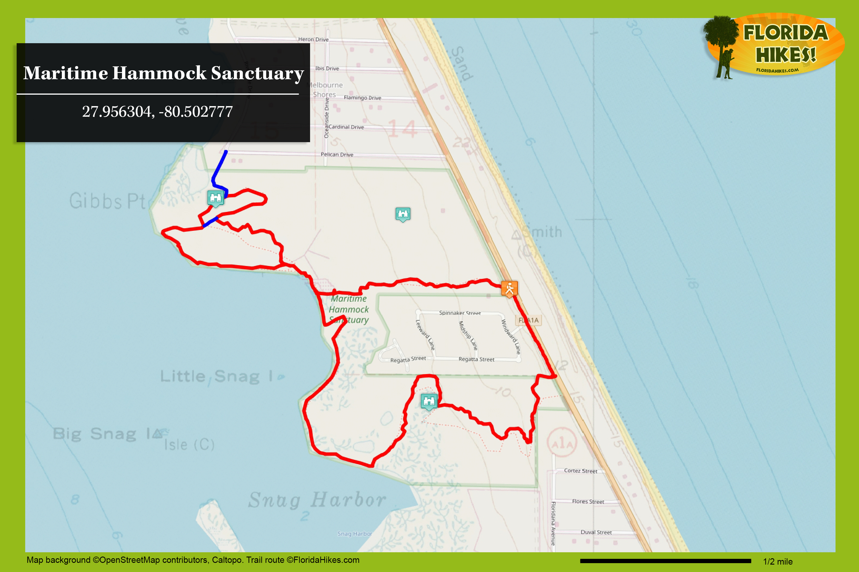 Maritime Hammock Sanctuary | Florida Hikes! - Central Florida Bike Trails Map