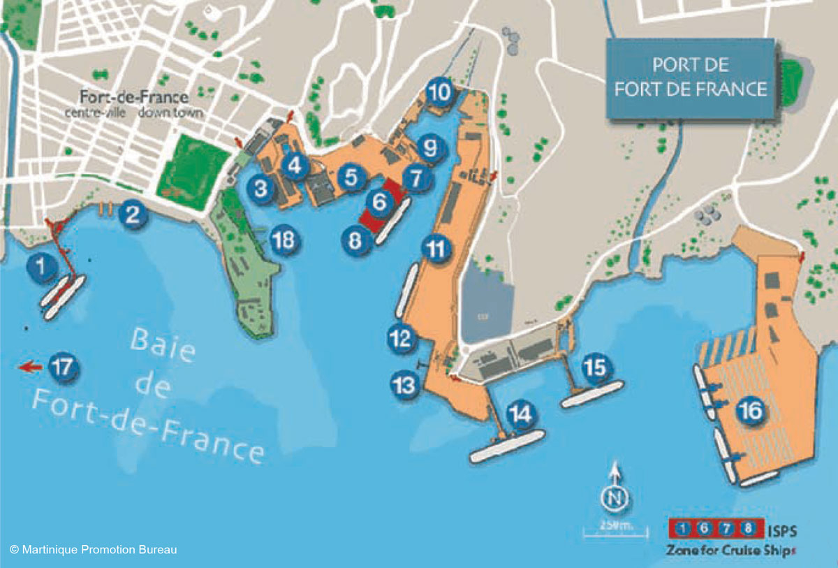 Martinique Plays Host To Florida-Caribbean Cruise Association - Map Of Carnival Cruise Ports In Florida