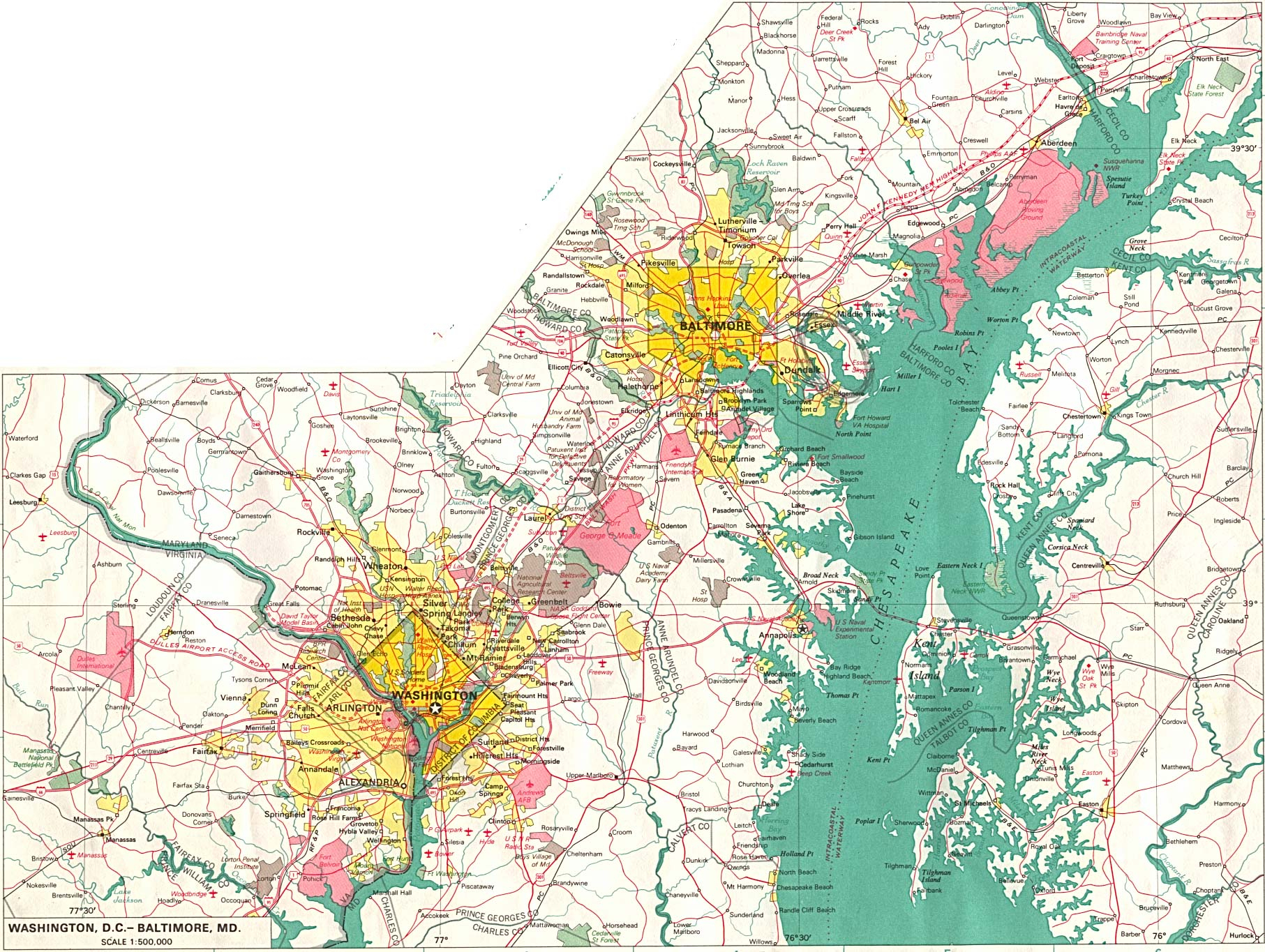 Maryland Maps - Perry-Castañeda Map Collection - Ut Library Online - Printable Map Of Annapolis Md
