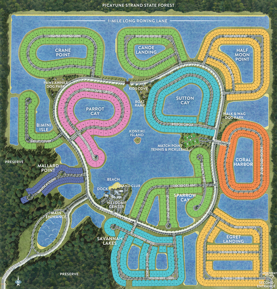 Master Site Plan | New Community | Naples Reserve - Map Of Naples Florida Neighborhoods