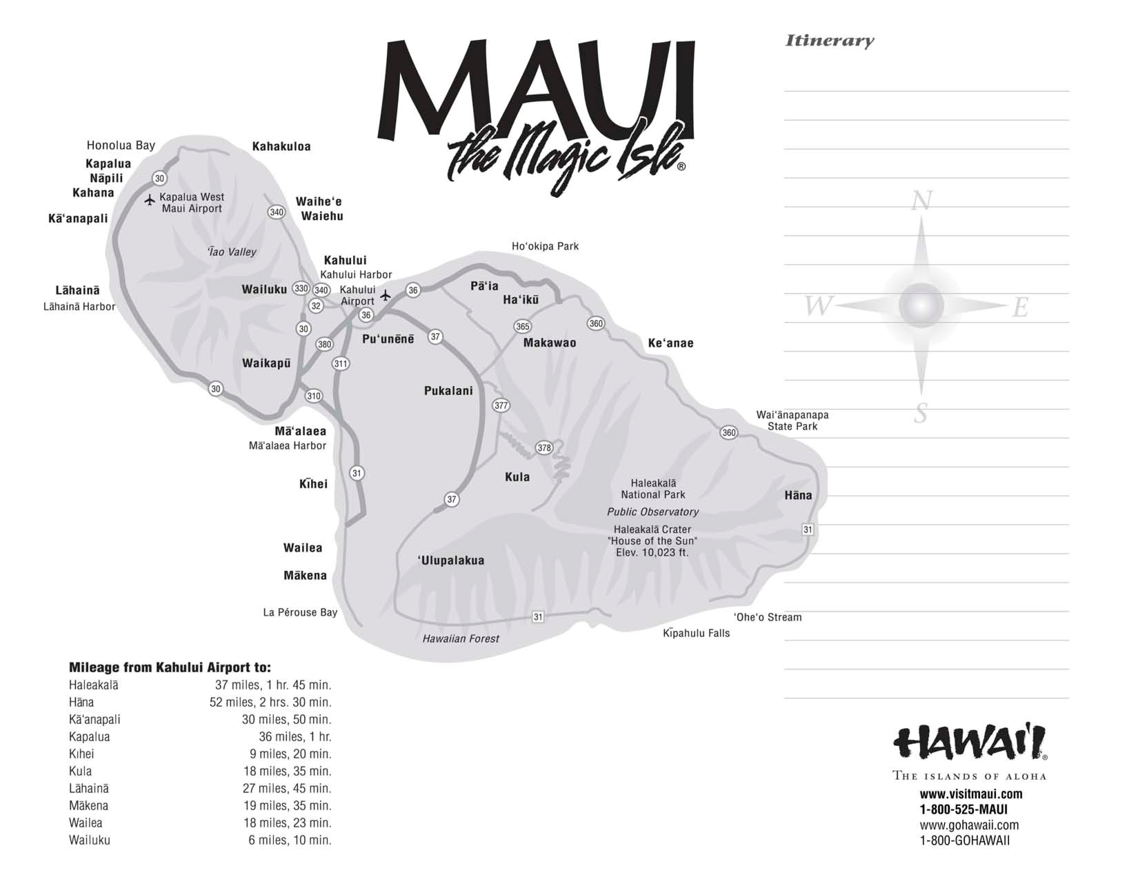 Maui Maps Printable | Scope Of Work Template Mileage | Hawaii - Maui Road Map Printable