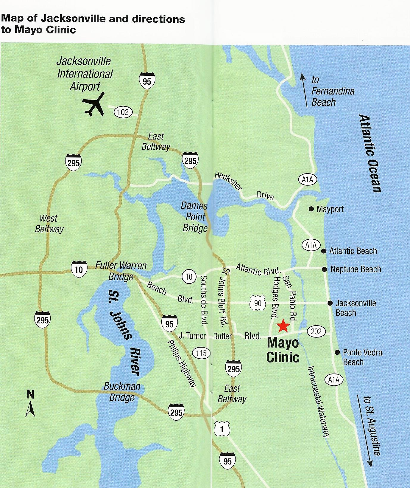 Mayo Clinic Florida, 4500 San Pablo Road, Jacksonville, Fl 32224 - Mayo Clinic Florida Map