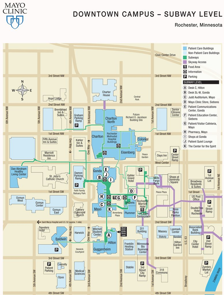 Mayo Clinic Map | Sates Map - Mayo Clinic Florida Map