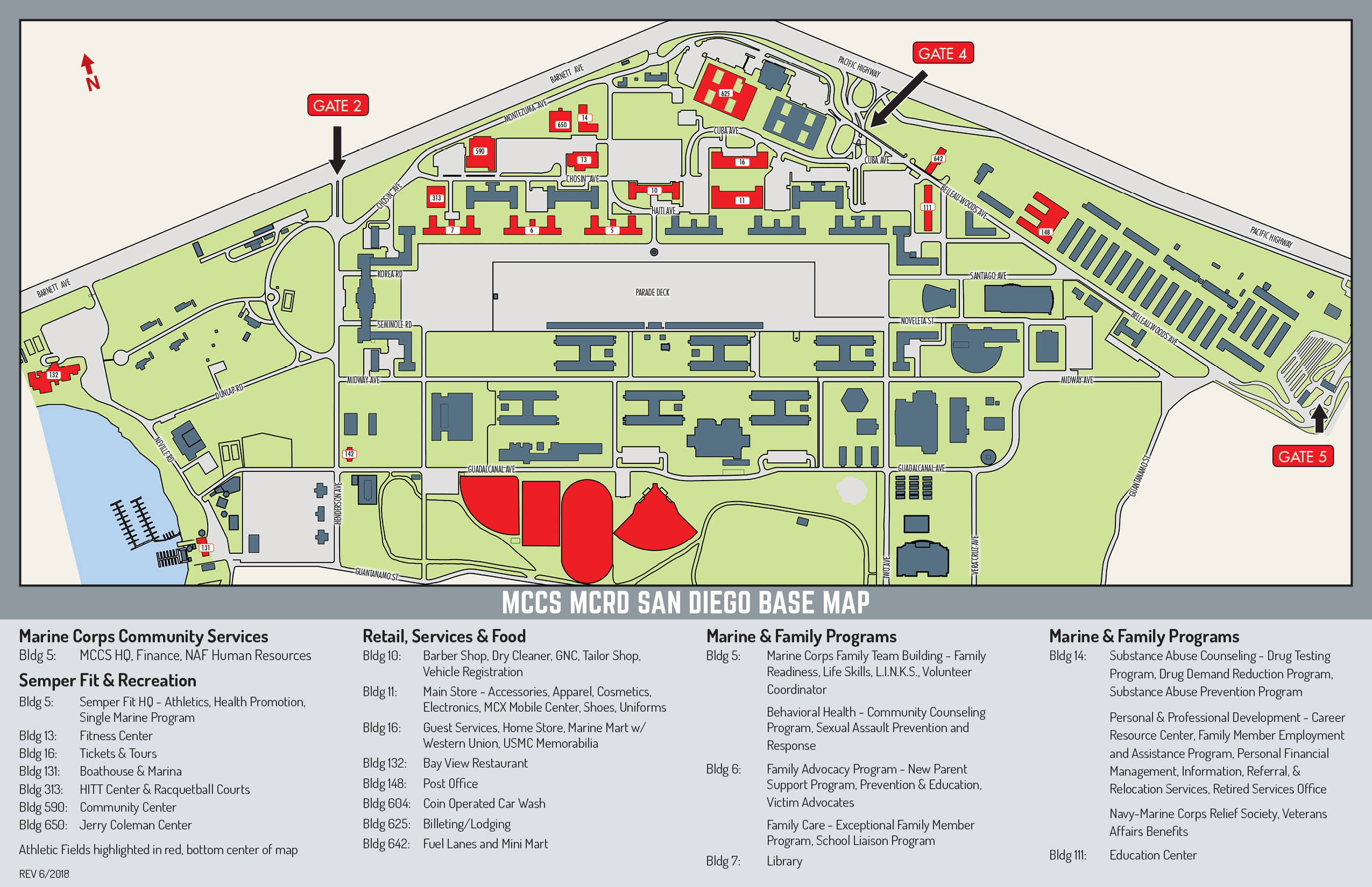 Mcrd Base Map – Marine Corps Community Services, Mcrd San Diego - Dod Lodging California Map
