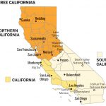 Measure Splitting California Into Three Makes It To Ballot   Three State California Map