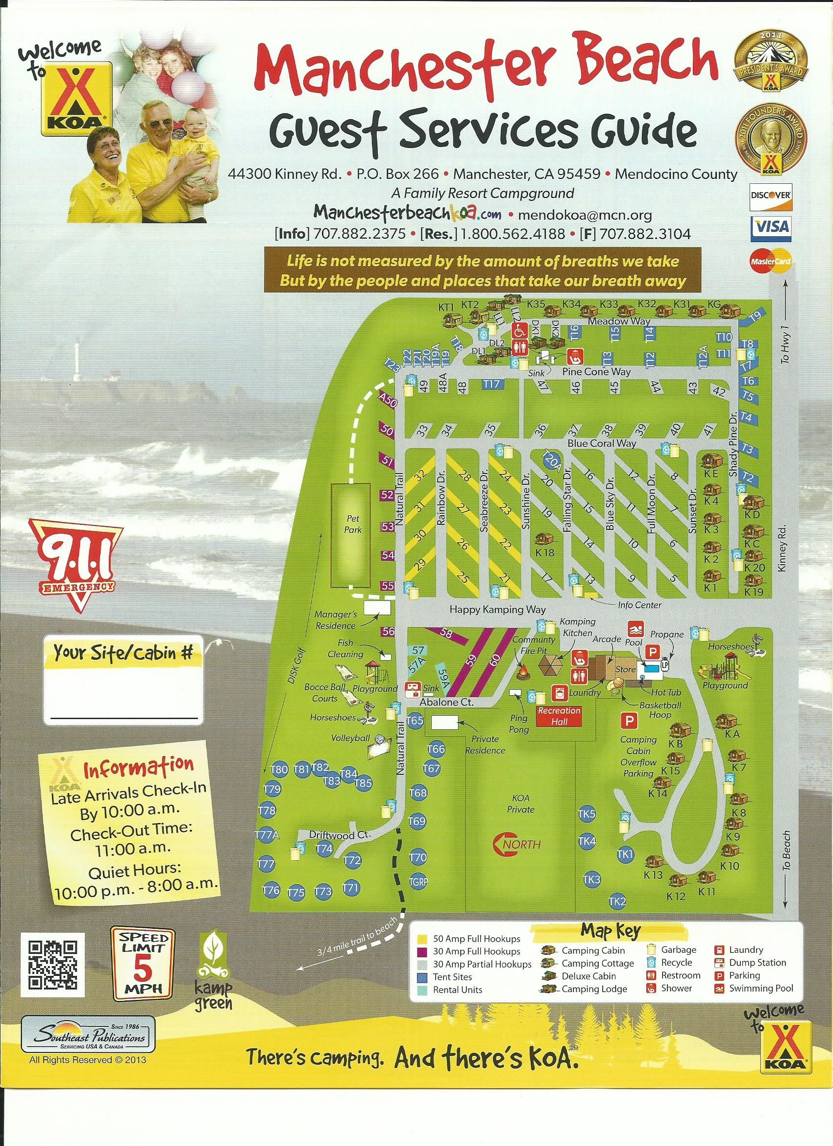 Mendocino Koa Campground Site Map | Camping Research | Pinterest - California Rv Campgrounds Map
