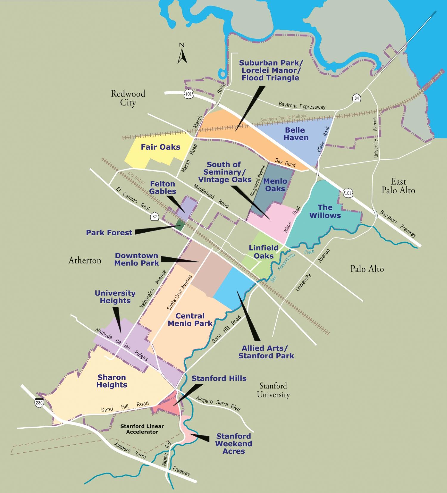 Menlo Park California Map - Touran - Menlo Park California Map