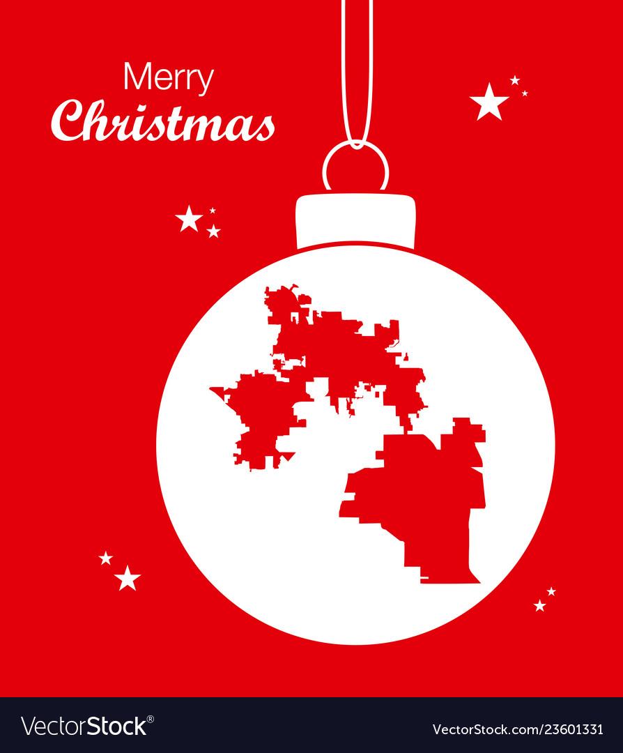 Merry Christmas Theme With Map Of Orlando Florida Vector Image - Christmas Florida Map