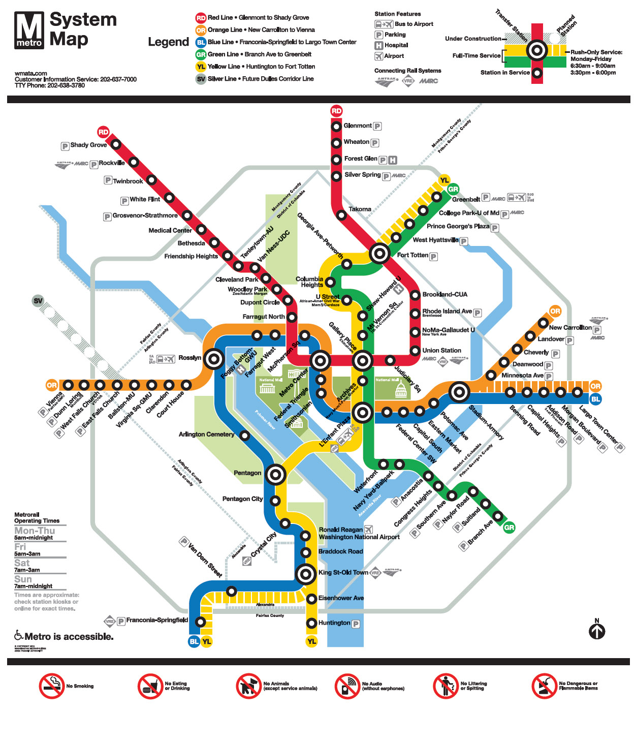 Metro | 2015 Arthur And Rochelle Belfer National Conference - Printable Washington Dc Metro Map