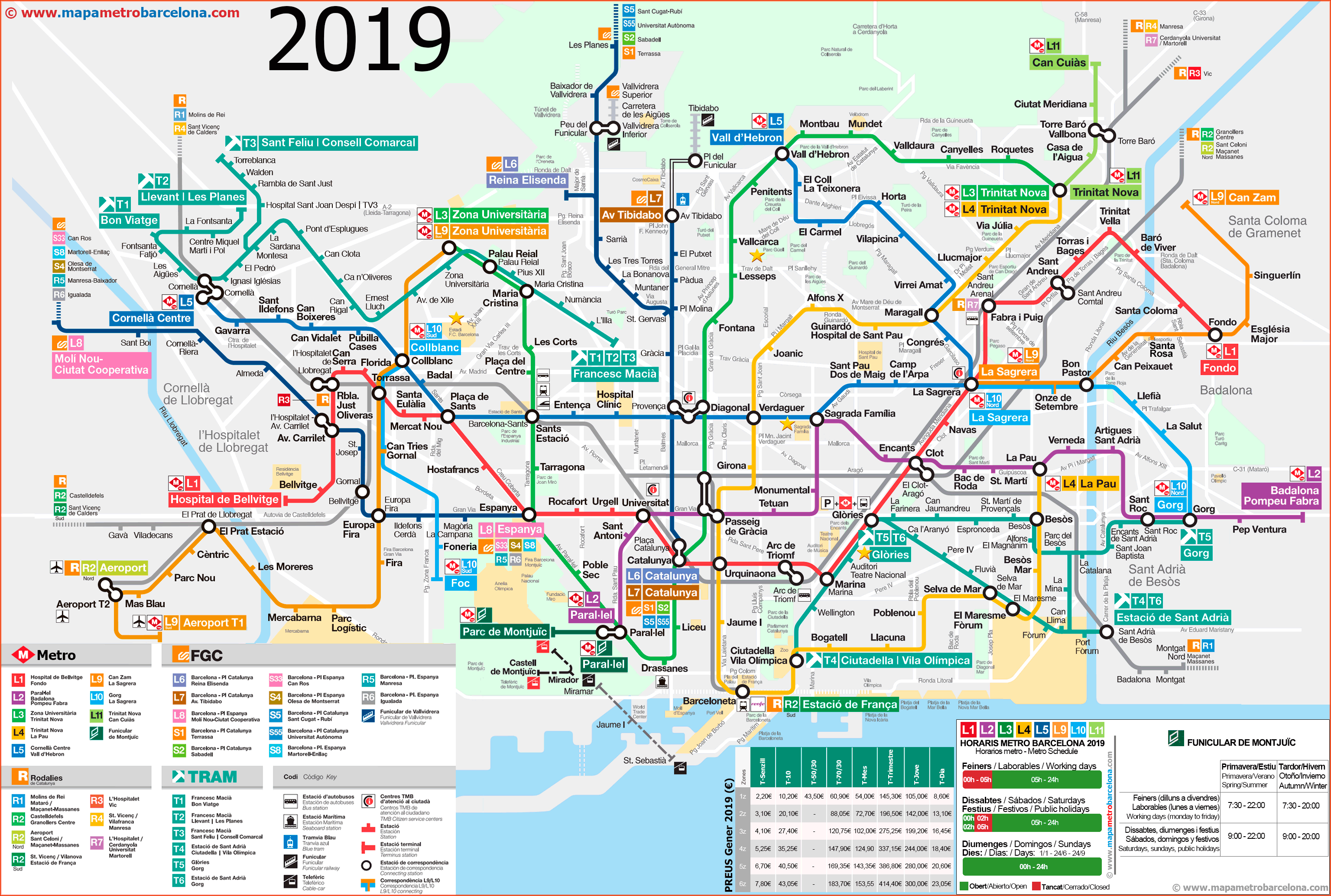 Metro Map Of Barcelona 2019 (The Best) - Printable Map Of Barcelona