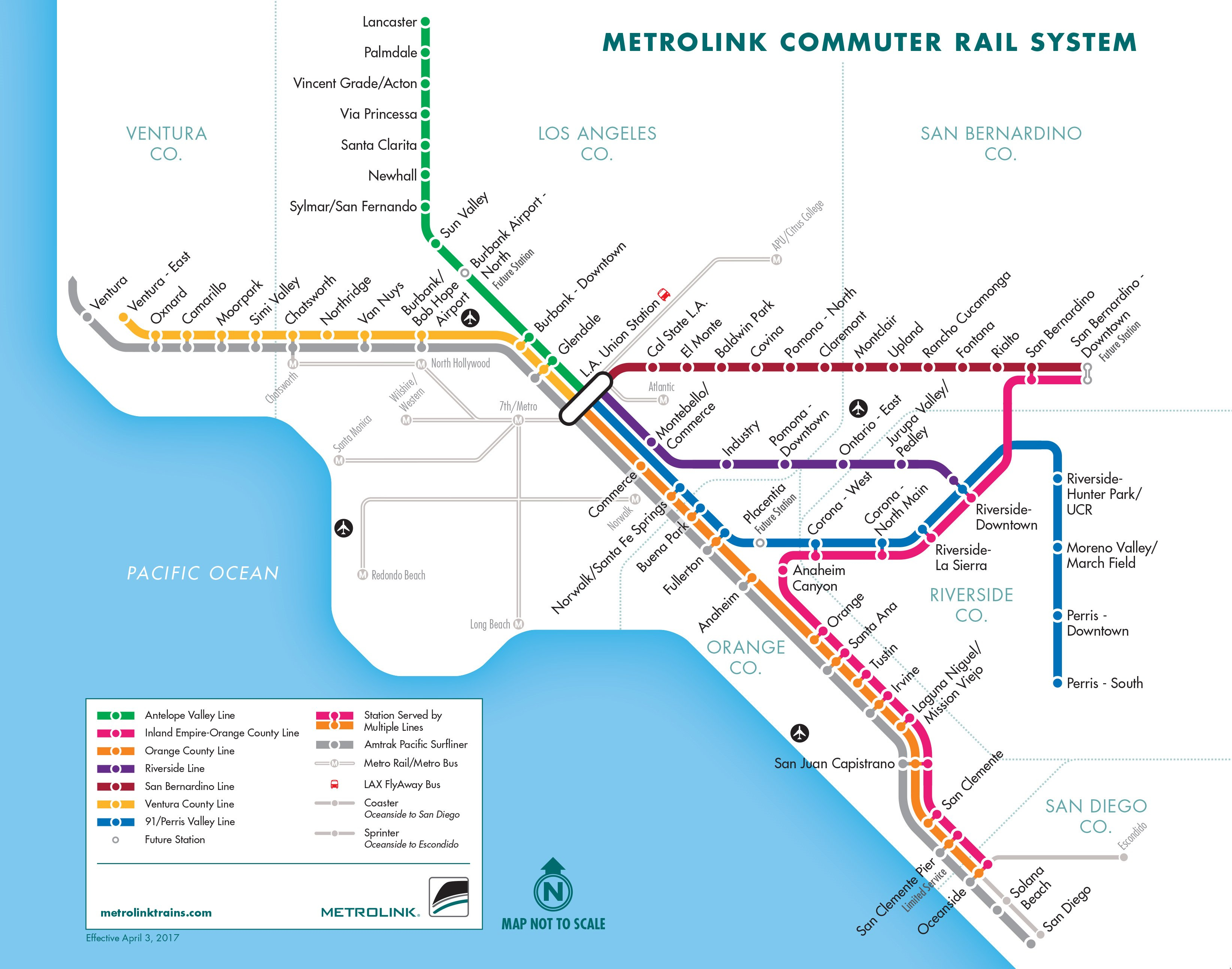 Metrolink Weekends   Metrolink - Amtrak California Surfliner Map